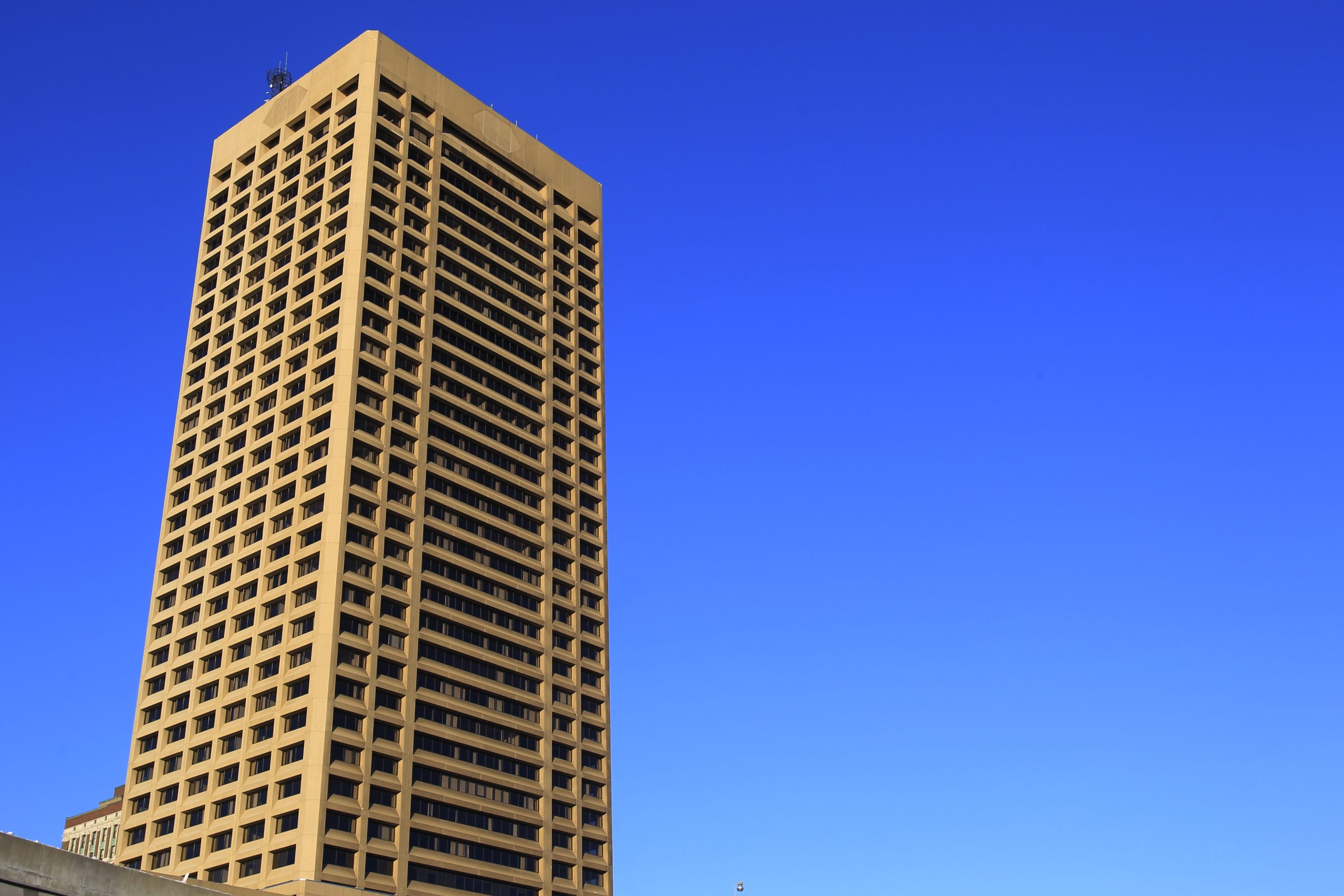 One Senece Tower, Buffalo's tallest building, may auctioned in October.(Harry Scull Jr./Buffalo News)