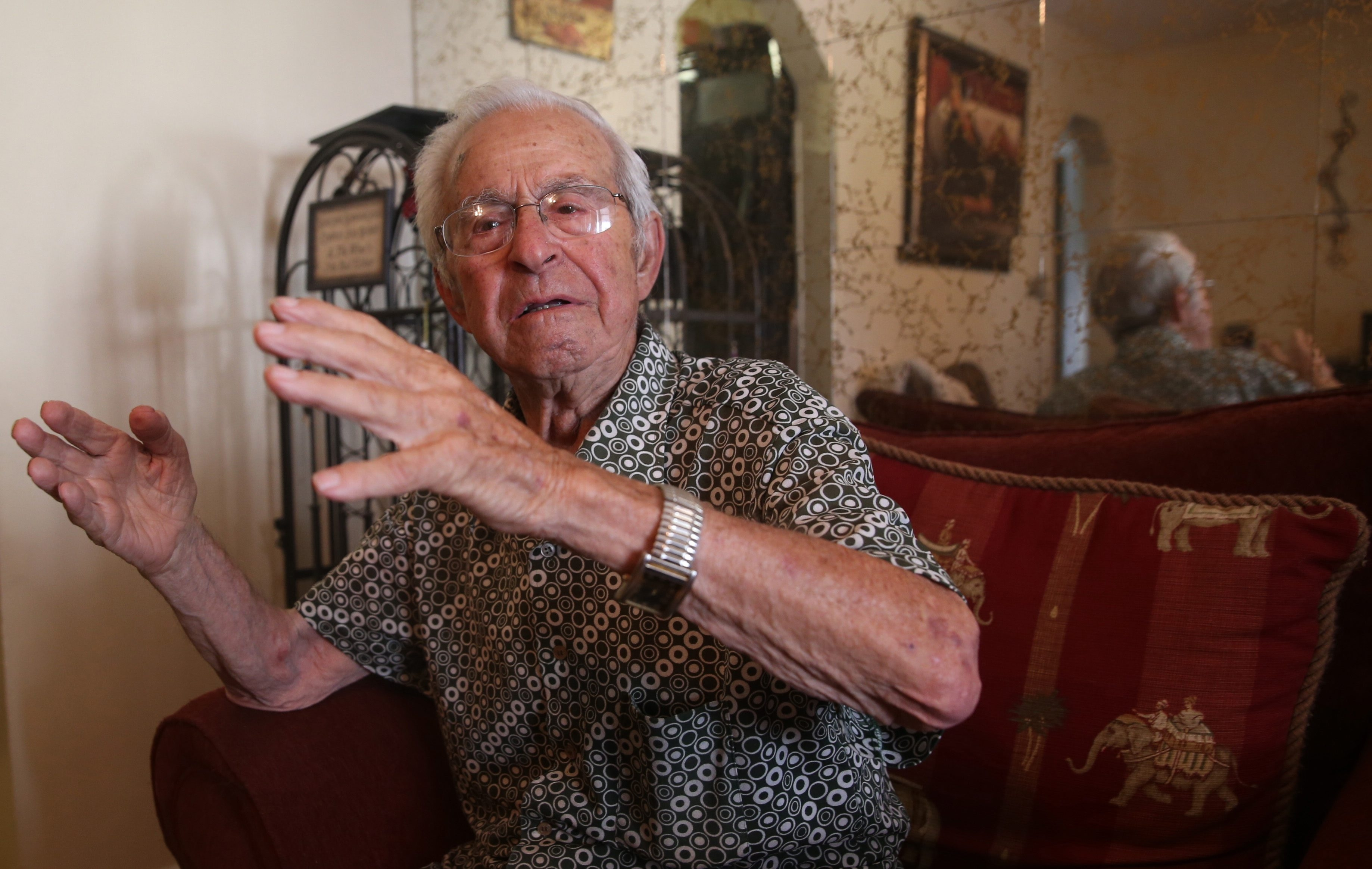 Carmen S. Turchiarelli, who immigrated to the United States from Italy when he was 5, recalls frightful WWII combat.