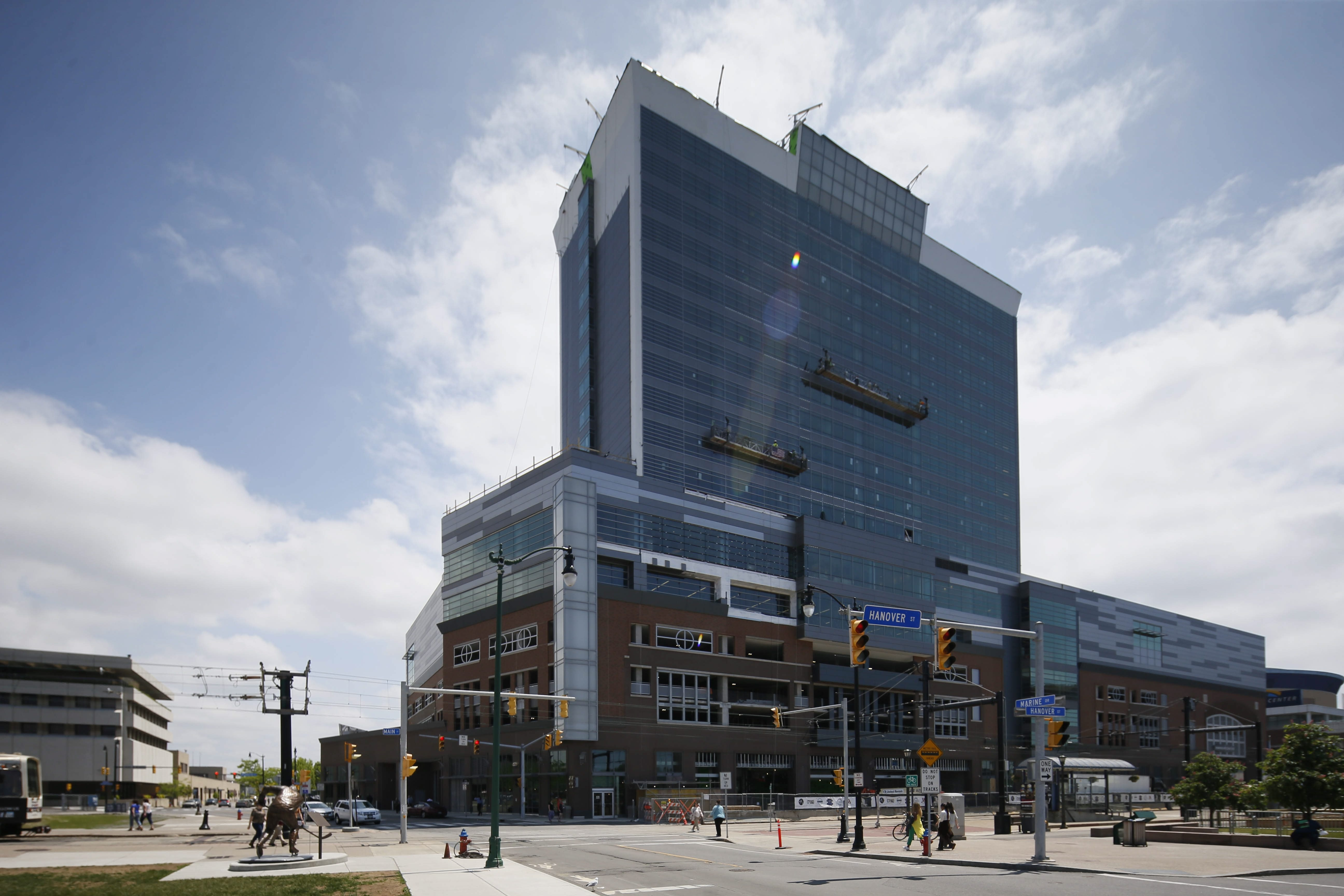 The grand opening of the HarborCenter complex, seen here in June, takes place Sept. 21. (Derek Gee/News file photo)