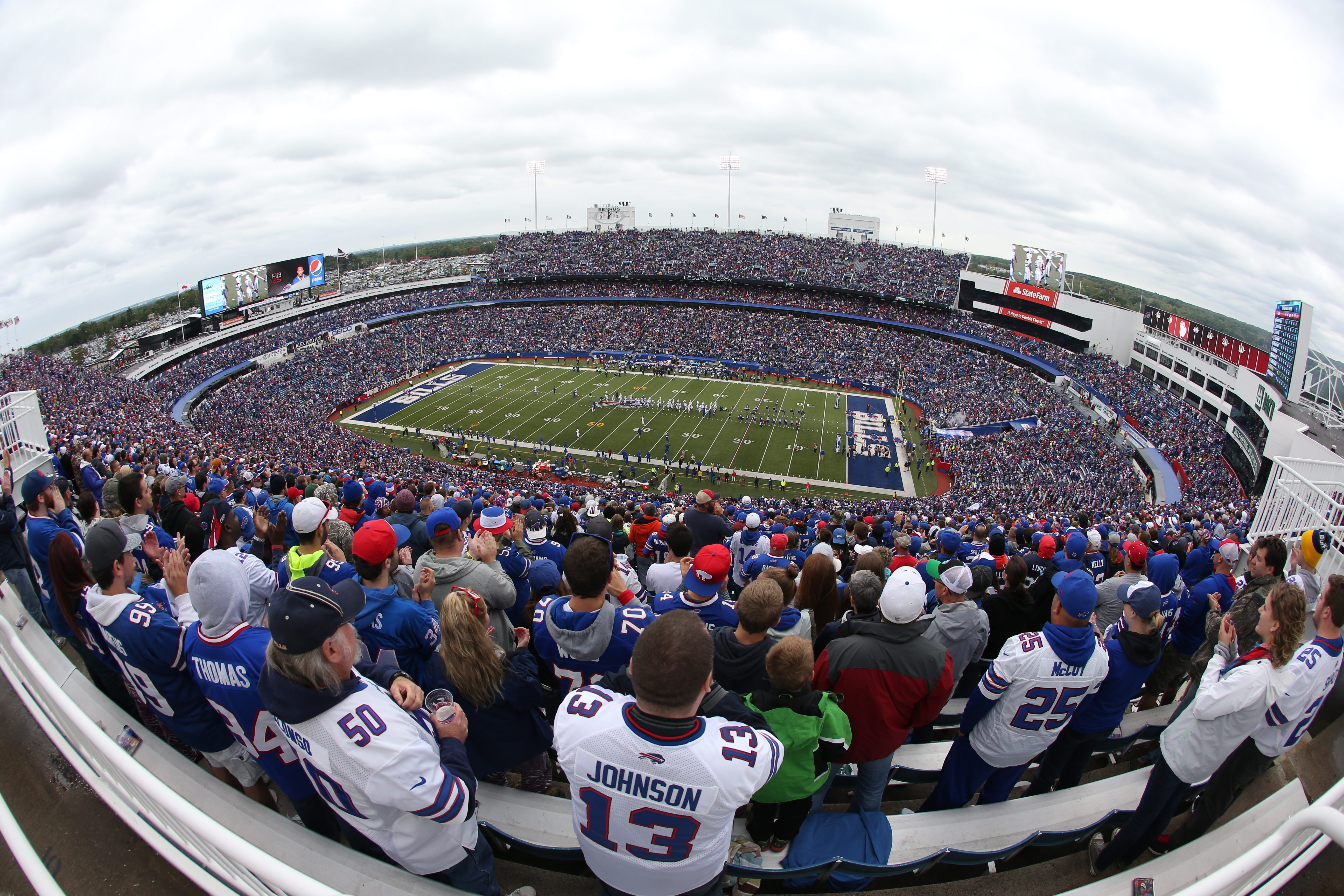 Buffalo Bills fans will get the chance to show how loud they can get in support of their team at Ralph Wilson Stadium in Orchard Park on Sunday.