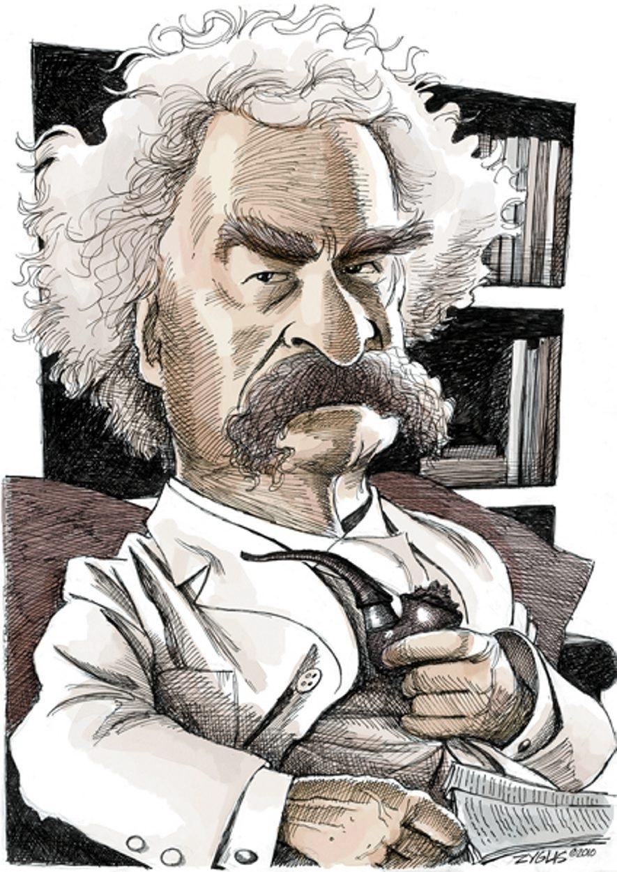 Mark Twain (Illustration by Adam Zyglis/Buffalo News)