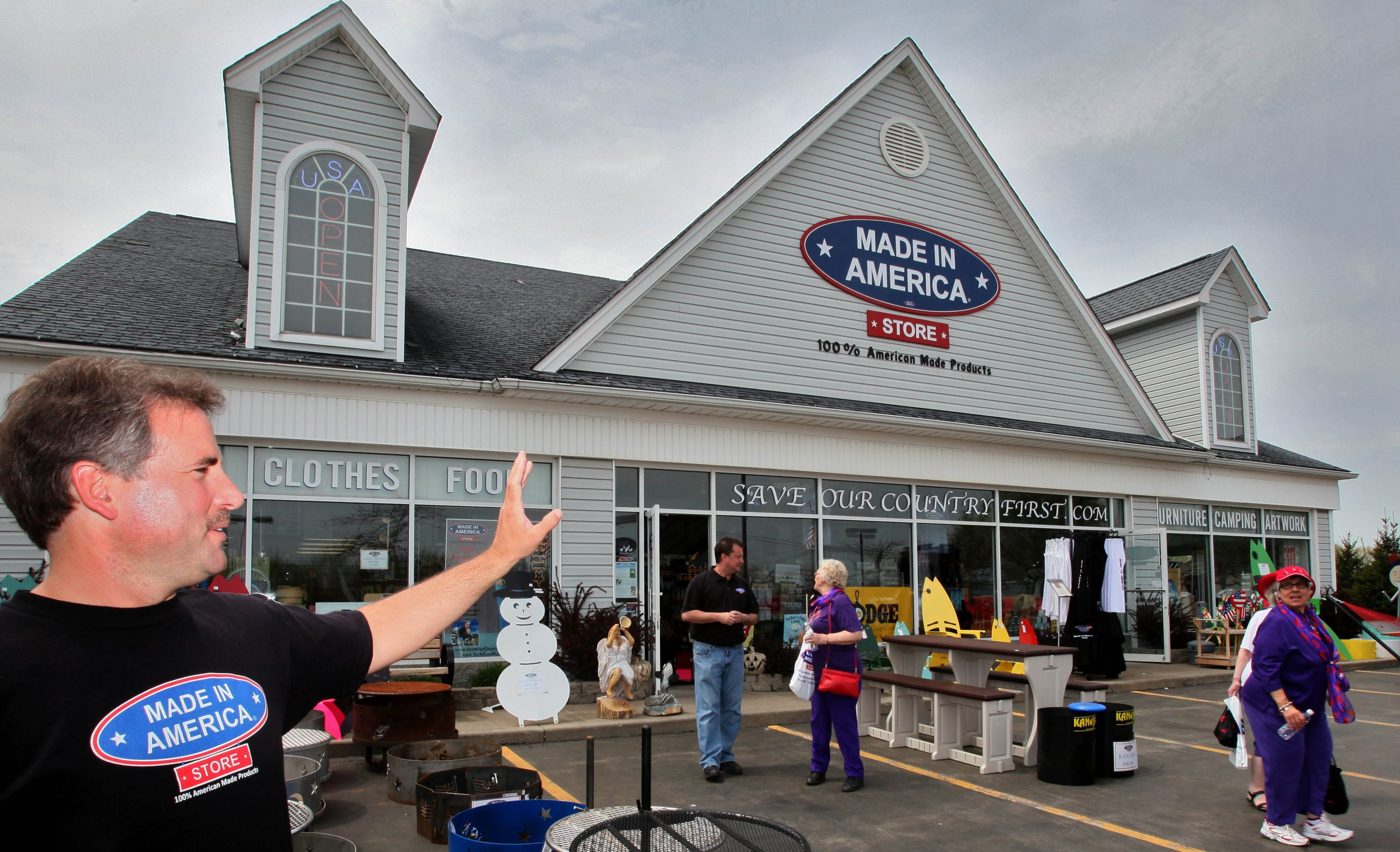 Made in America's founder and CEO Mark Andol, outside his Elma store, said he had no idea the business would become a tourist destination.