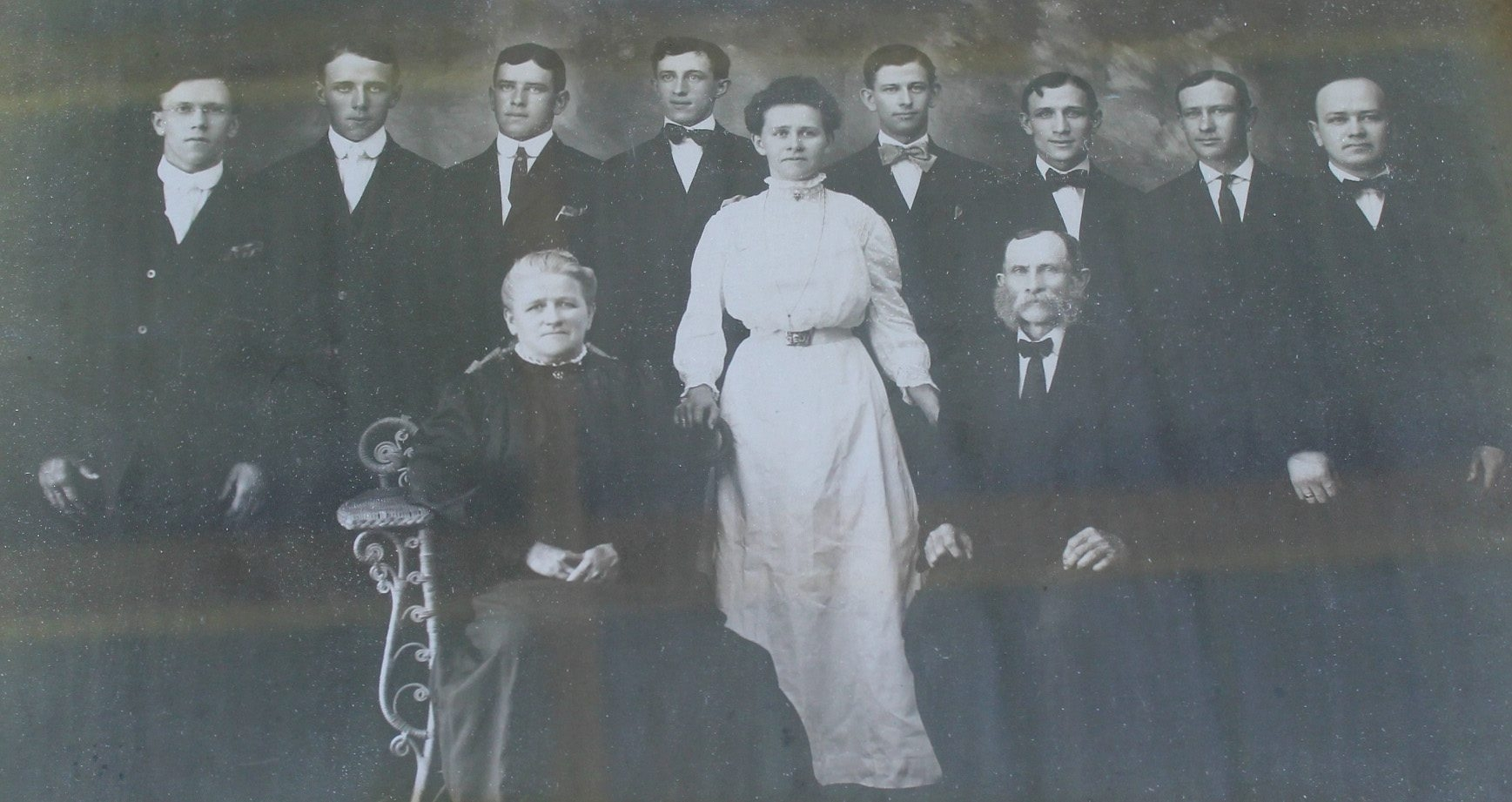 Carl Gotthilf Camann, front right, and his wife, Emilie Grassmann Camann, were the patriarch and matriarch of the family that founded the hamlet of Bergholz.
