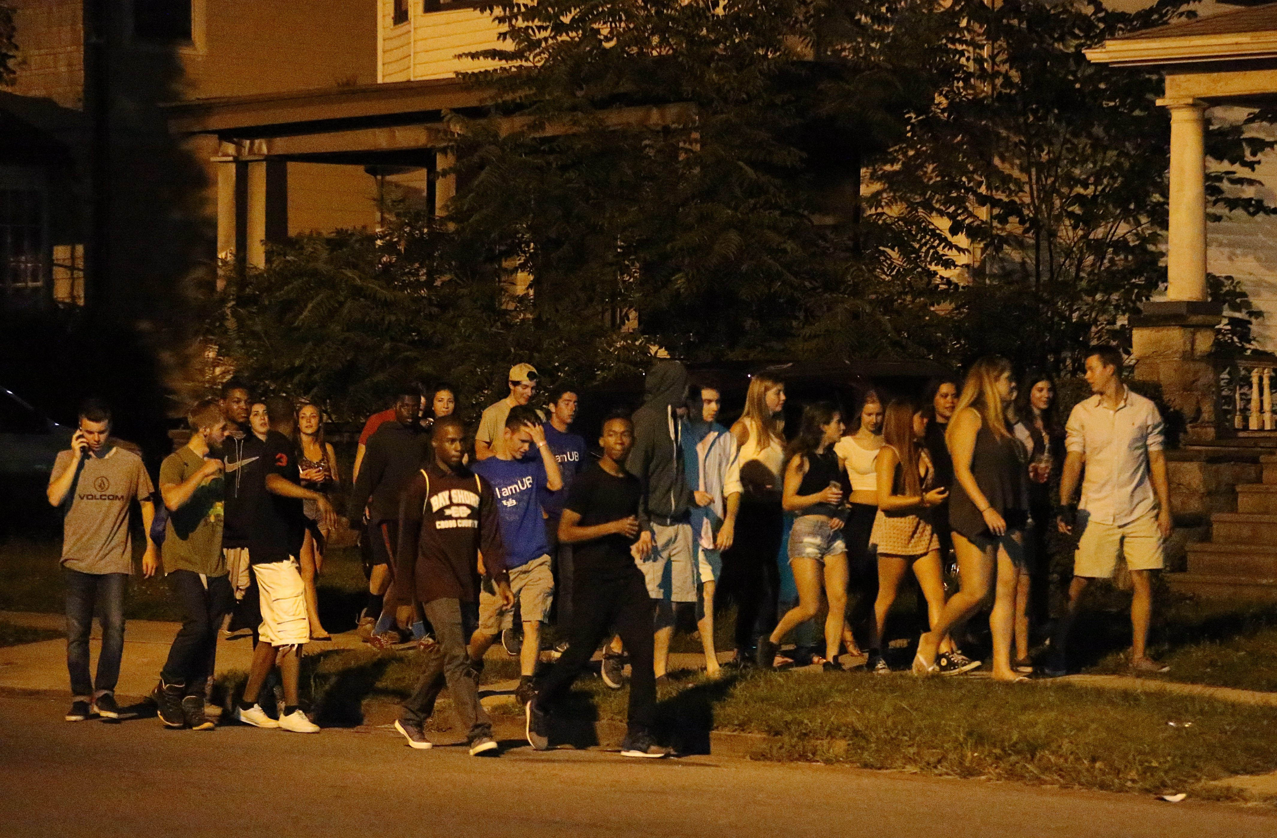 Packs of young people roam the streets of University Heights, disrupting the lives of residents. (Sharon Cantillon/Buffalo News)