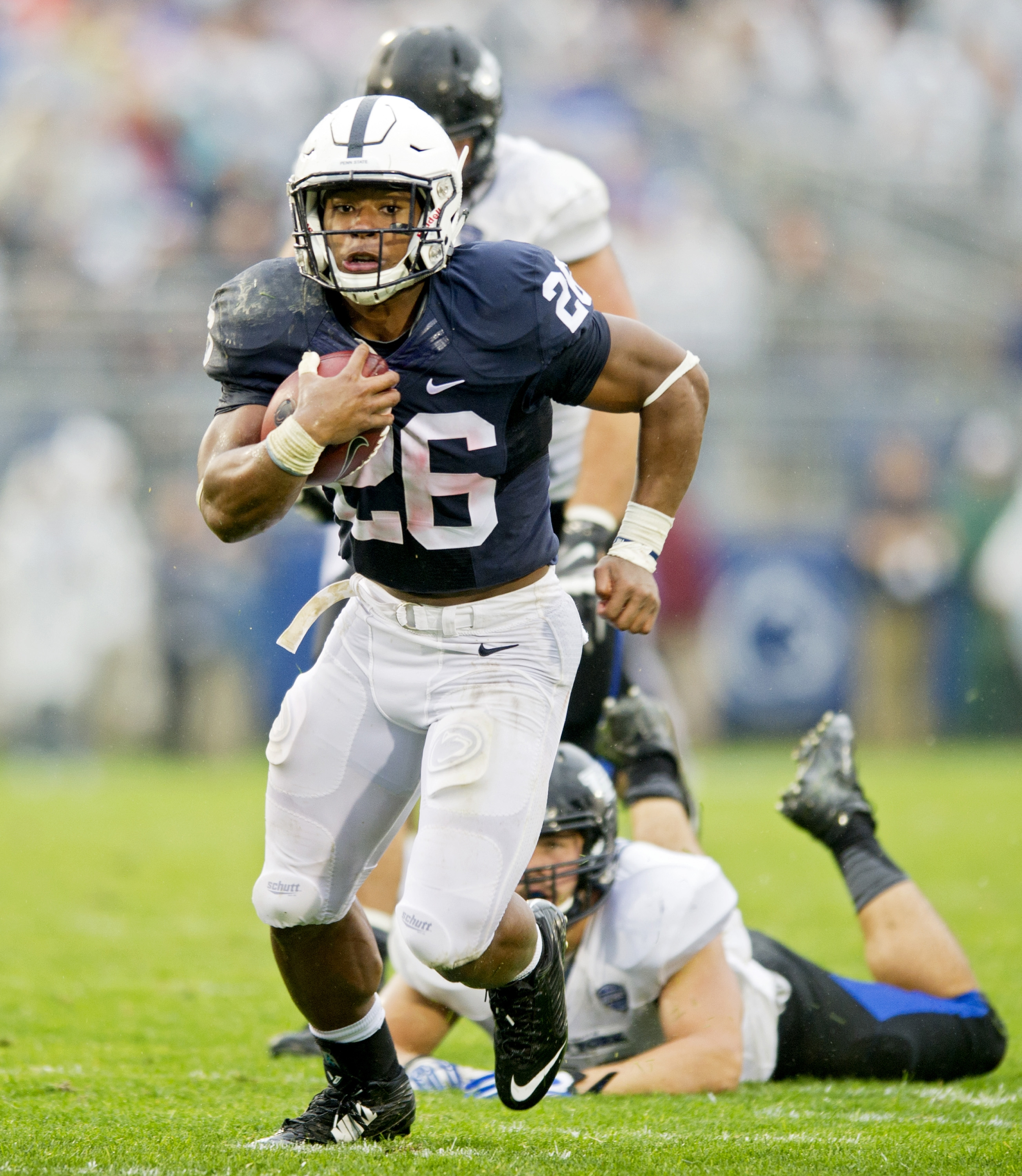 Speed ruled as Penn State running back Saquon Barkley tormented UB defenders during the fourth quarter, when he ran eight times for 101 yards to help the Nittany Lions put the game away.