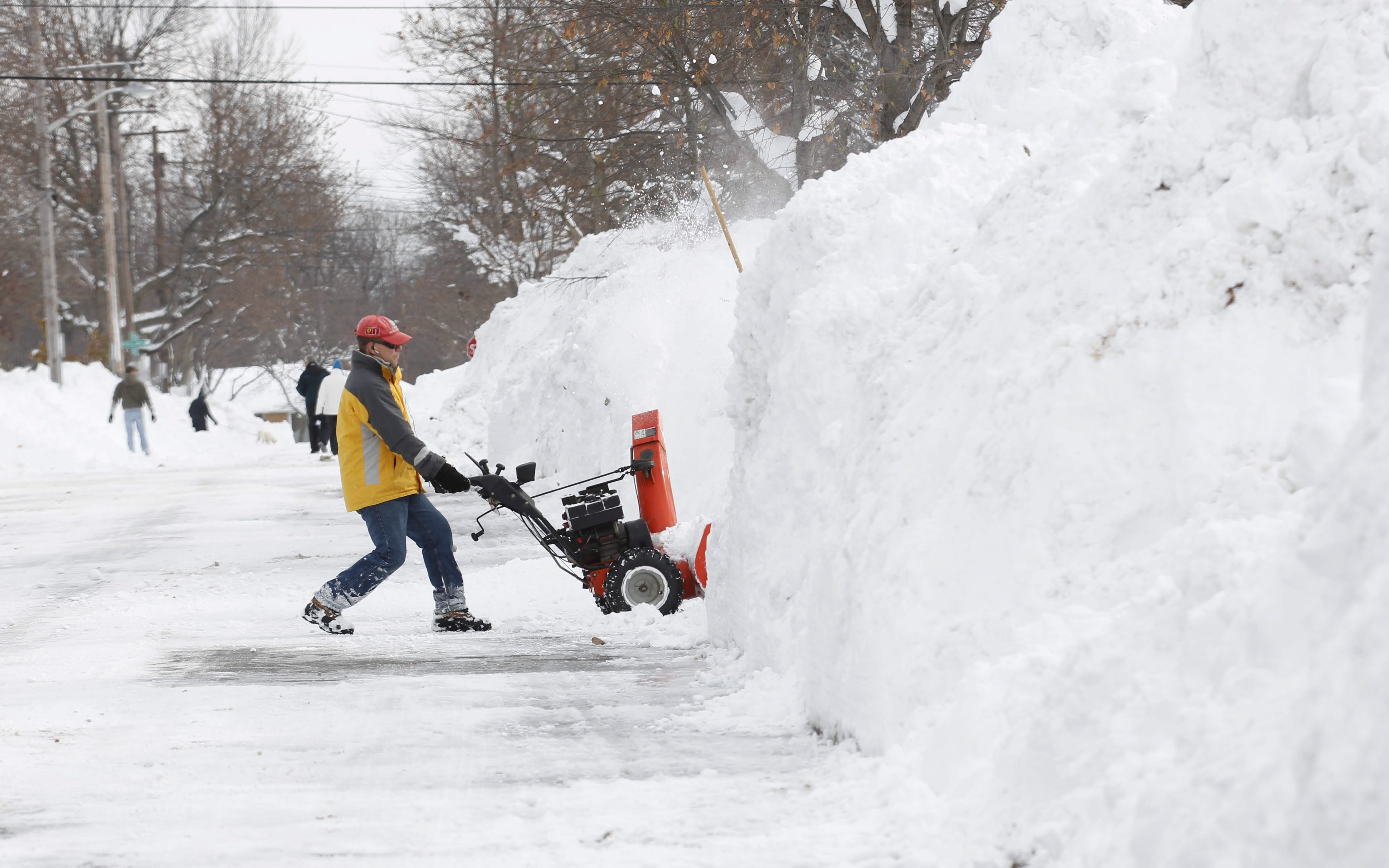 "Relentless snowfall reaching 7 feet and mountains of it piled along local streets are among the indelible images of last winter, raising the question of what's in store in the months ahead. According to a meteorologist, this winter is shaping up as ""better than last year."""
