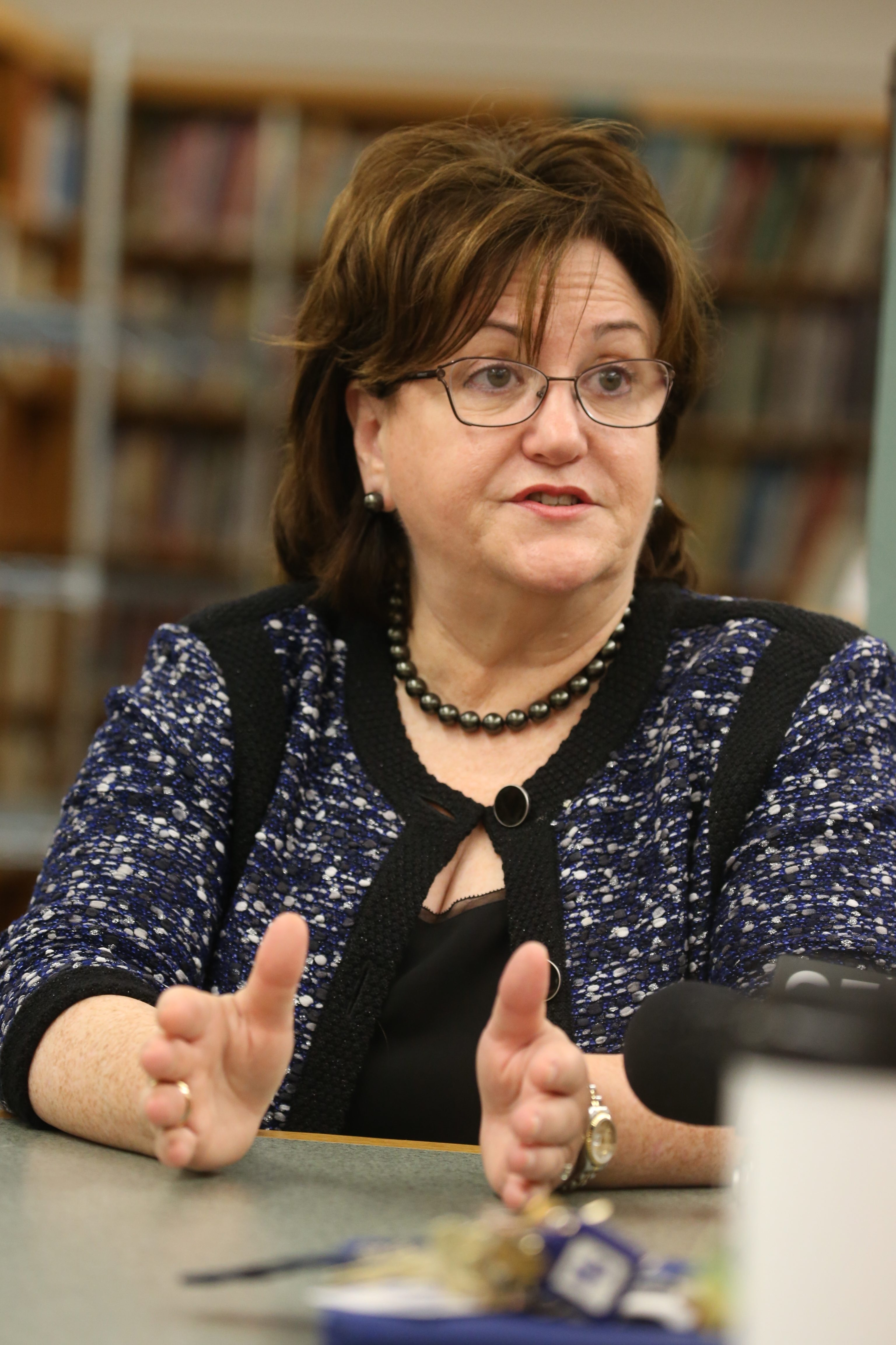 """""""The parents, the teachers need to be very involved in how we improve education in New York."""" MaryEllen Elia, state education commissioner"""