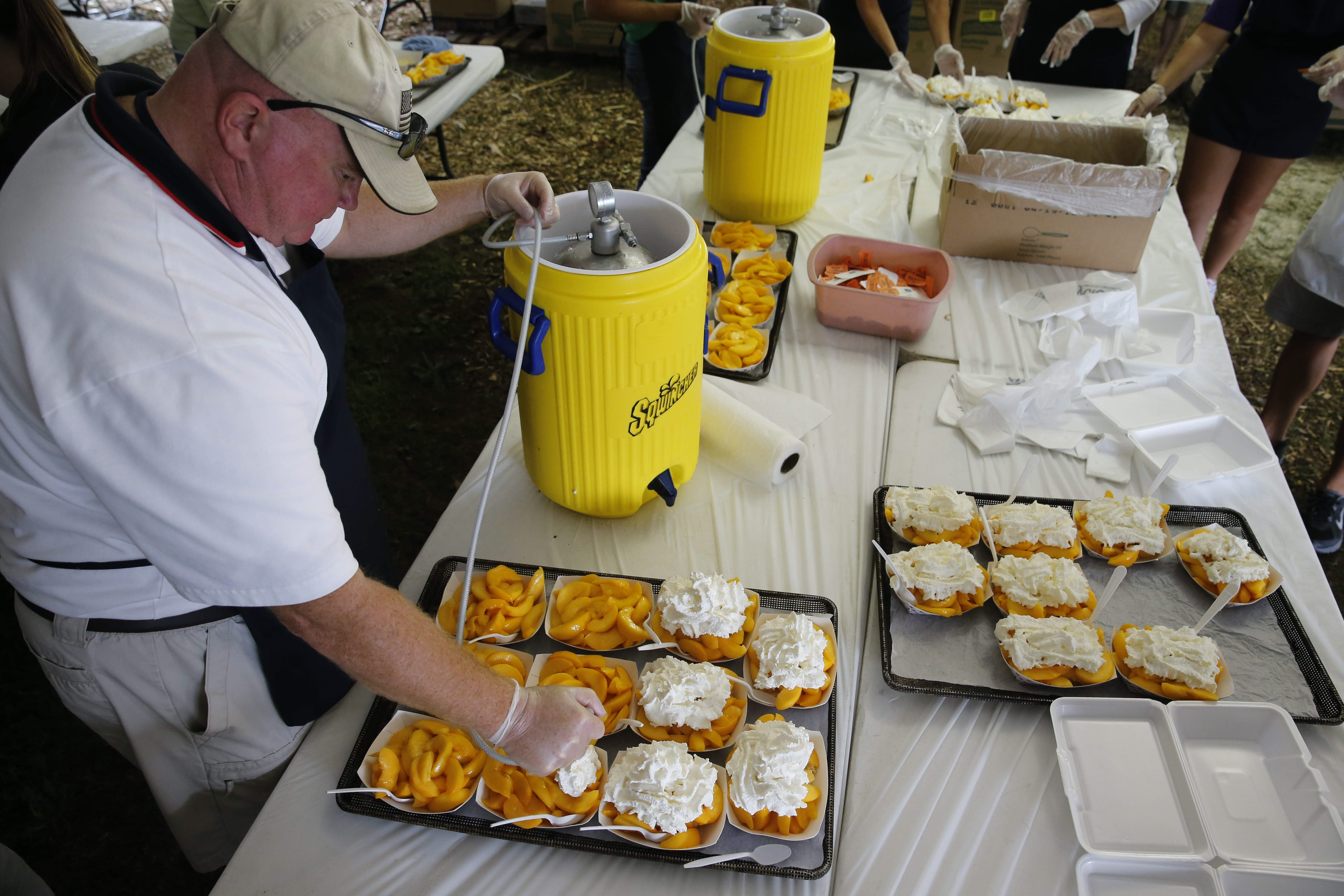 More than 13,000 pounds of local peaches are expected to be used for the shortcake at this year's Peach Festival, which begins Friday in Academy Park in Lewiston.
