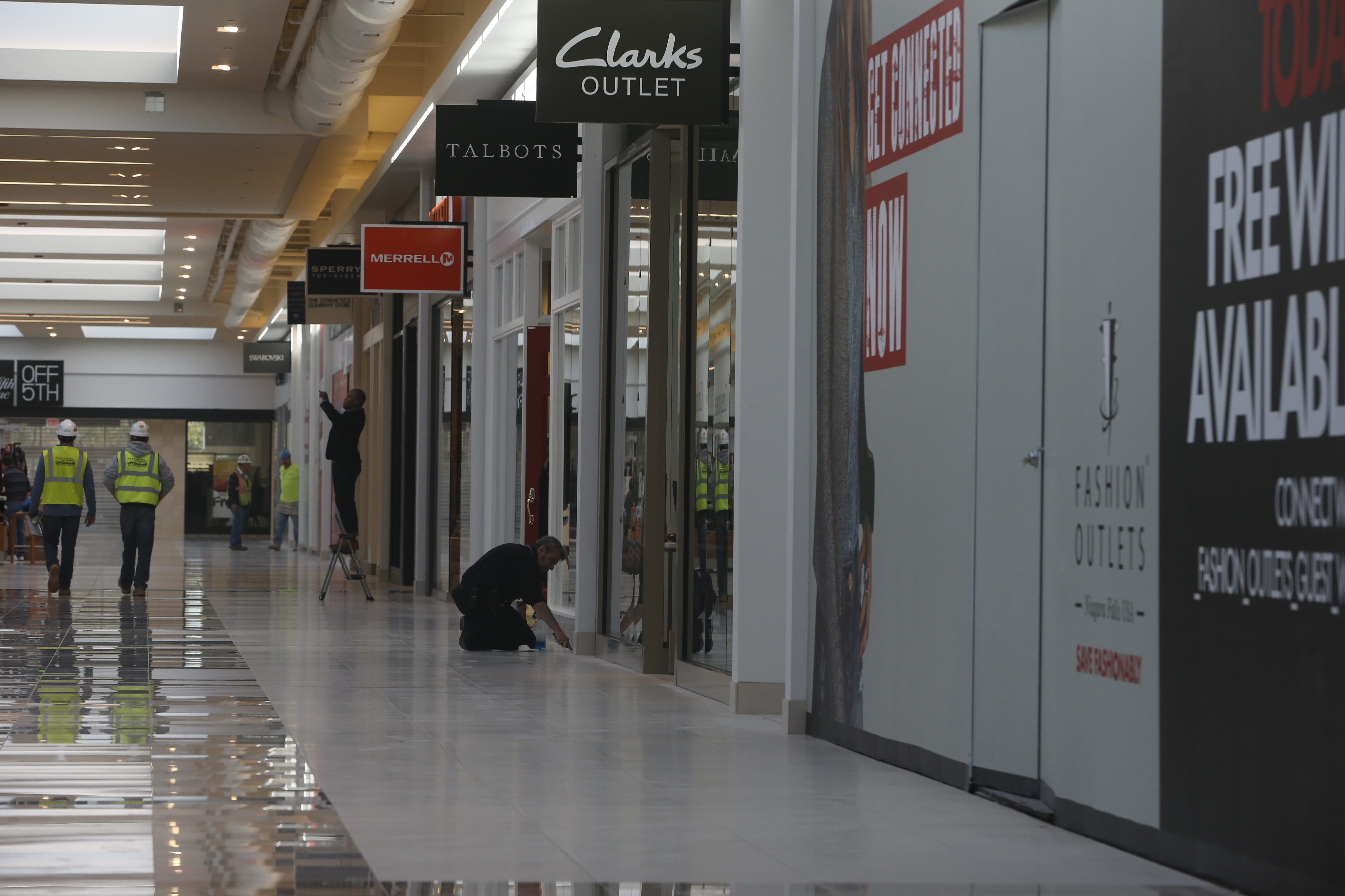 The newest wing at the Fashion Outlets of Niagara Falls debuted in October. Wednesday, the outlet mall announced that six new stores, including Columbia Sportswear, will open this fall.
