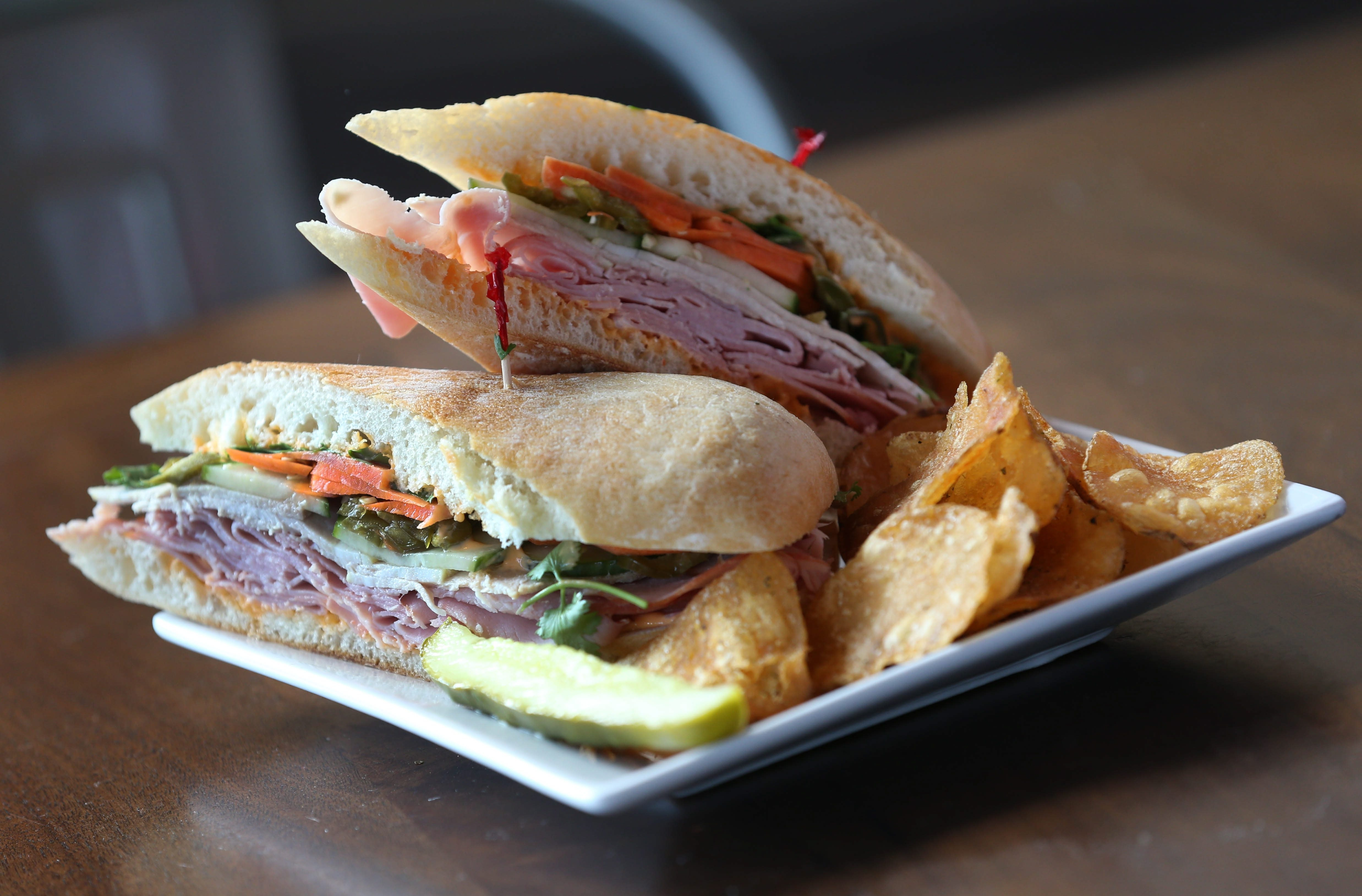 "Joe's Deli's location at 534 Elmwood Ave. in Buffalo.  The is ""The Body"" sandwich. Photo taken, Wednesday, Aug. 5, 2015.  (Sharon Cantillon/Buffalo News)"