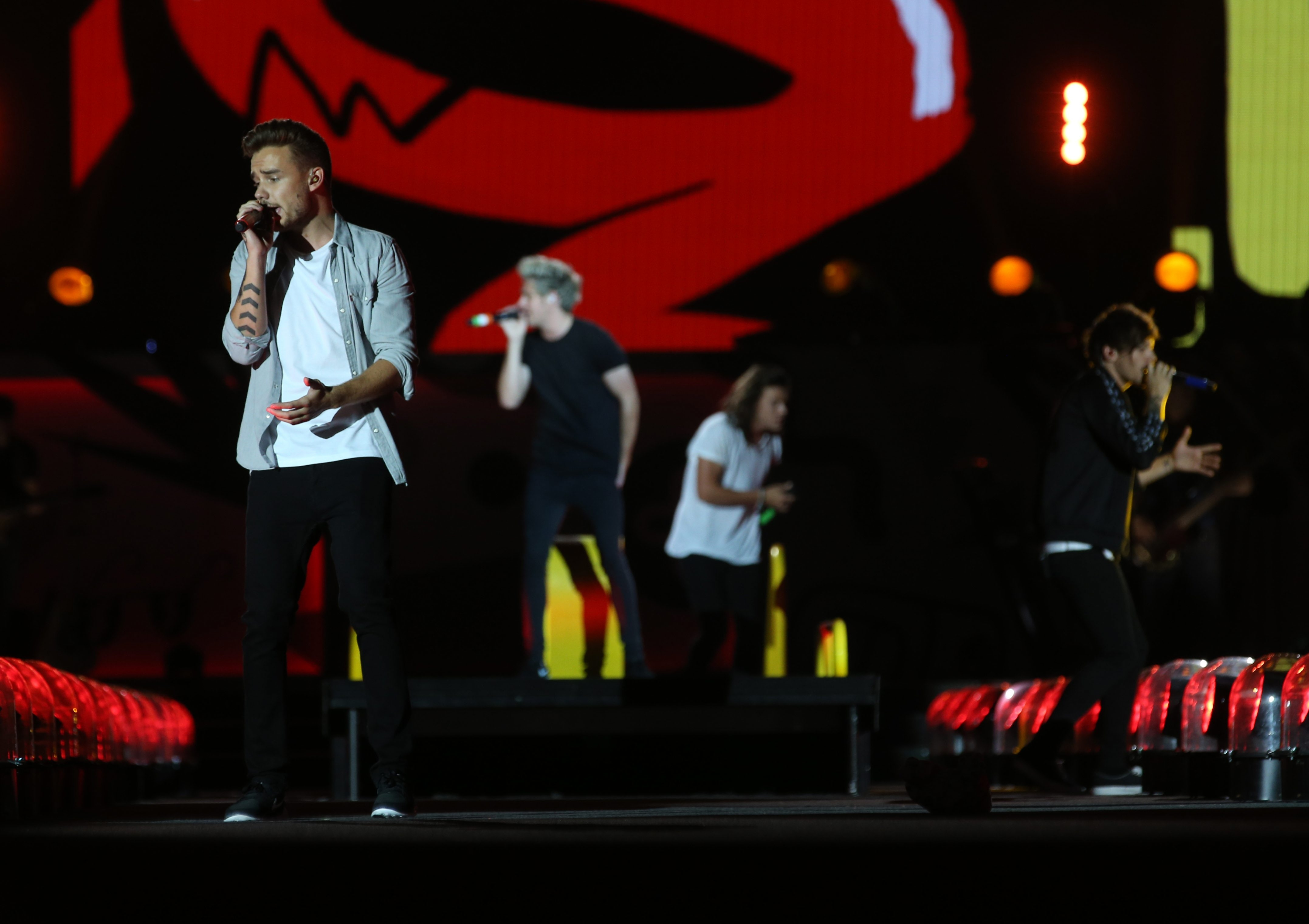 One Direction performs at Ralph Wilson Stadium in Orchard Park. (Sharon Cantillon/Buffalo News)