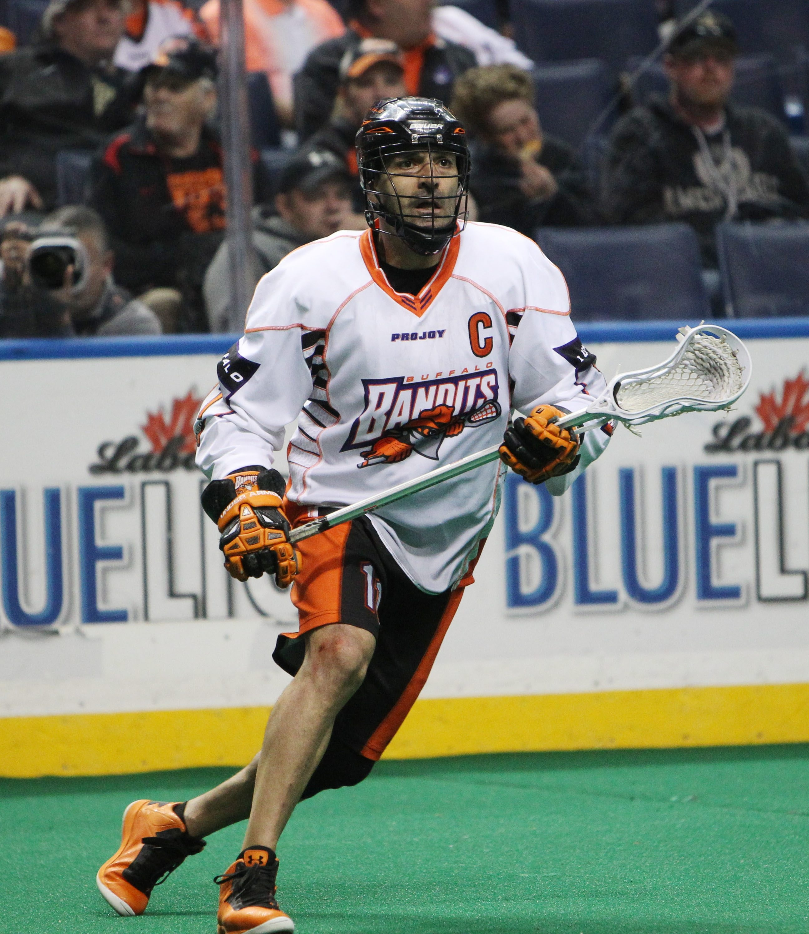 John Tavares has been a Buffalo Bandit since the team's first season in 1992.