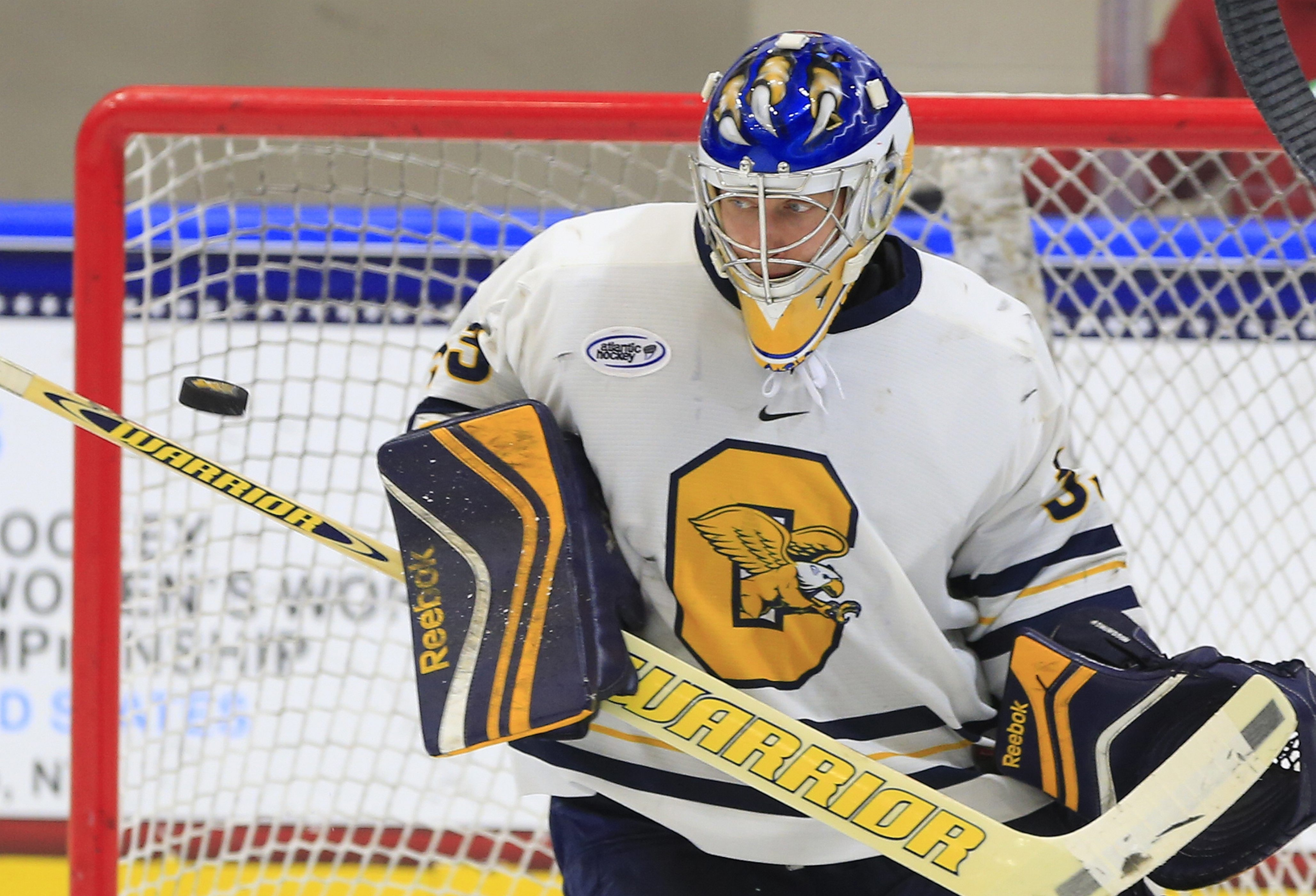 Canisius College alumnus Keegan Asmundson is back in Buffalo to try out as a goalie for the Sabres.