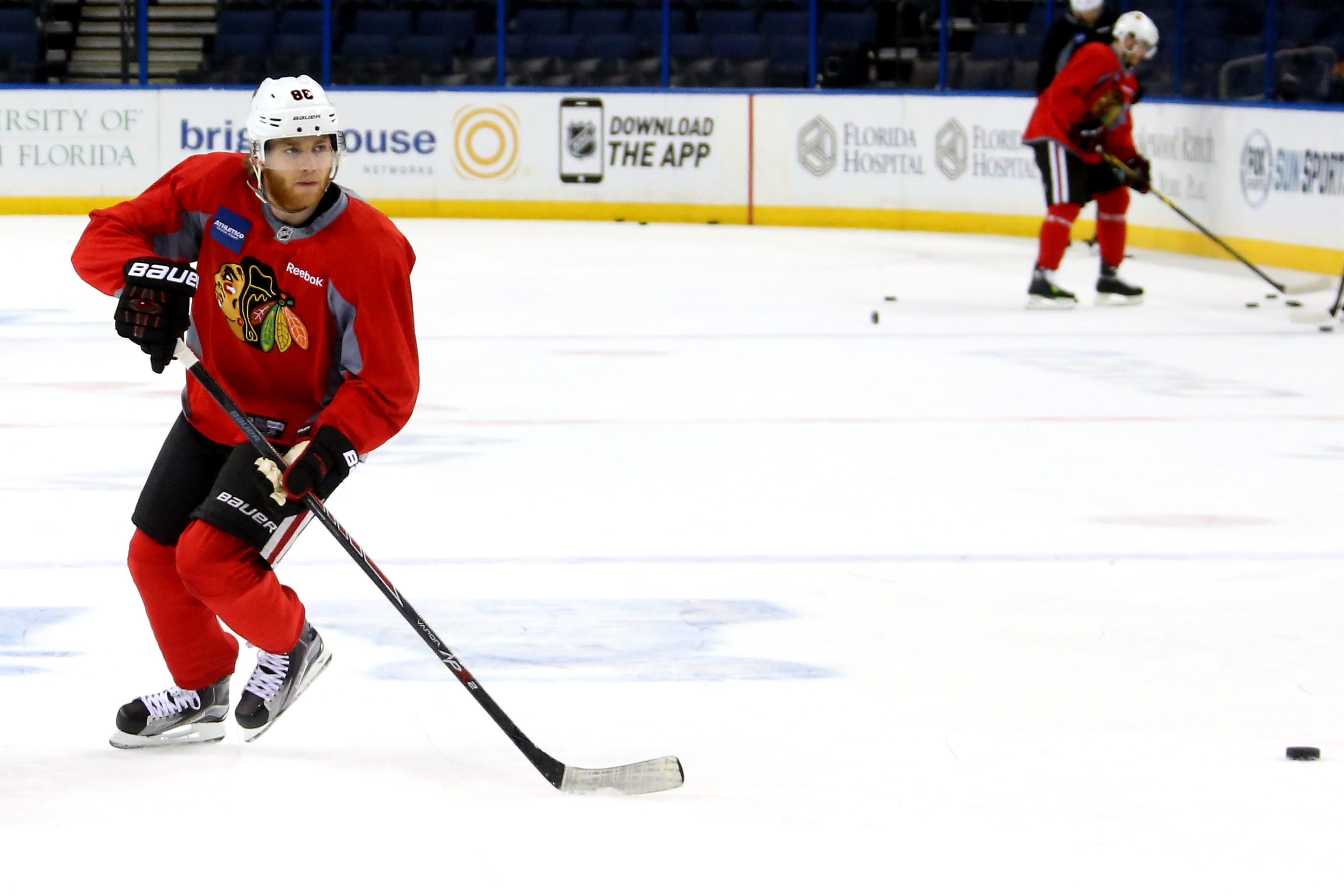 TAMPA, FL - JUNE 02:  Patrick Kane #88 of the Chicago Blackhawks skates during practice for the 2015 NHL Stanley Cup Final at Amalie Arena on June 2, 2015 in Tampa, Florida.  (Photo by Bruce Bennett/Getty Images)