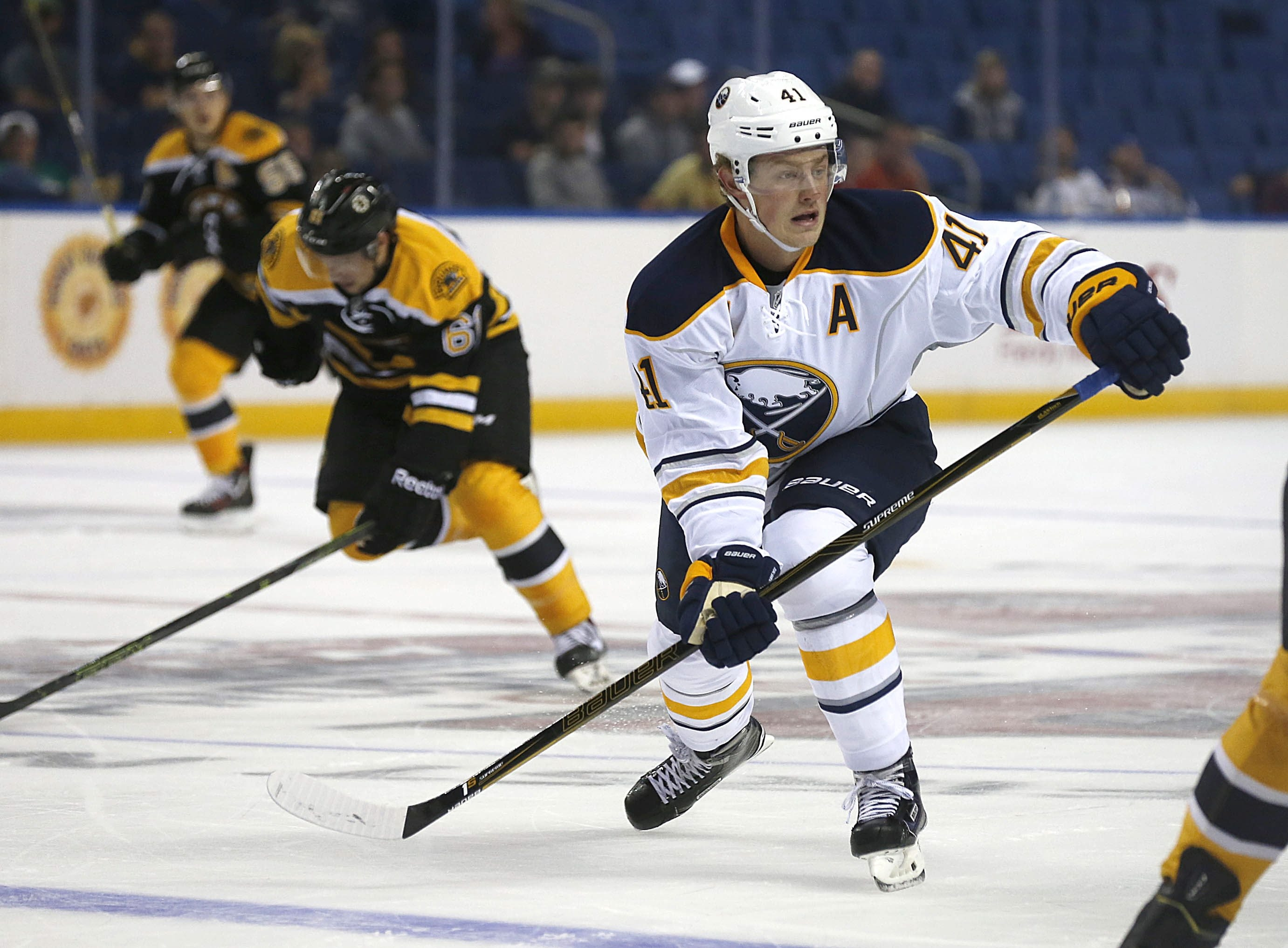 Buffalo's Jack Eichel was more than up to the task of leading the Sabres prospects before 3,527 fans in First Niagara Center.