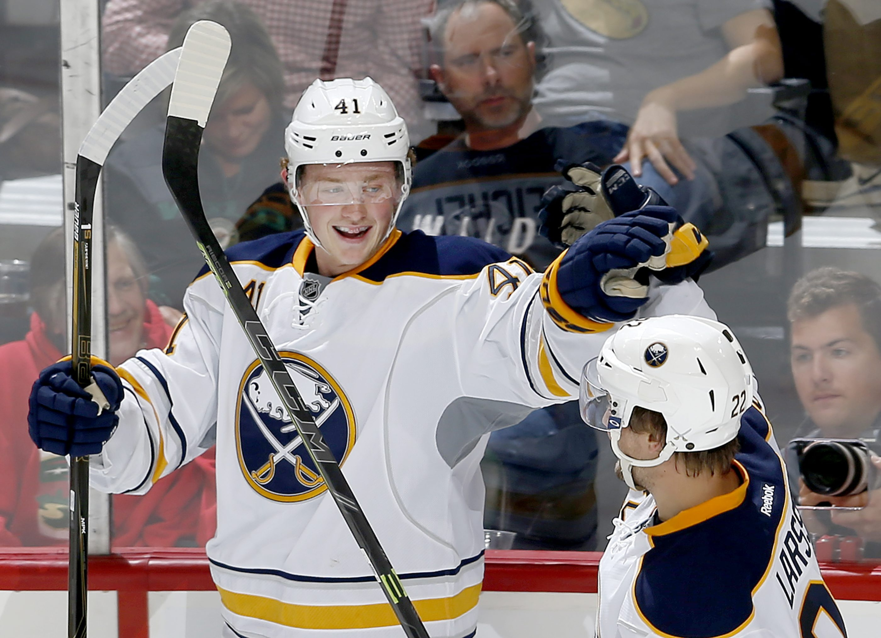 Jack Eichel got to experience the Toronto side of the rivalry Monday monring.