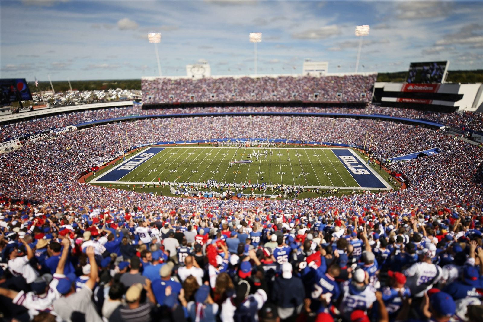 Ralph Wilson Stadium was packed for the showdown with the Patriots. (Derek Gee/Buffalo News)