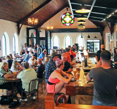 Silversmith Brewing Company is located in a former church along the Ontario wine trail. You can take a tour, taste the beer and order from a full oyster bar.