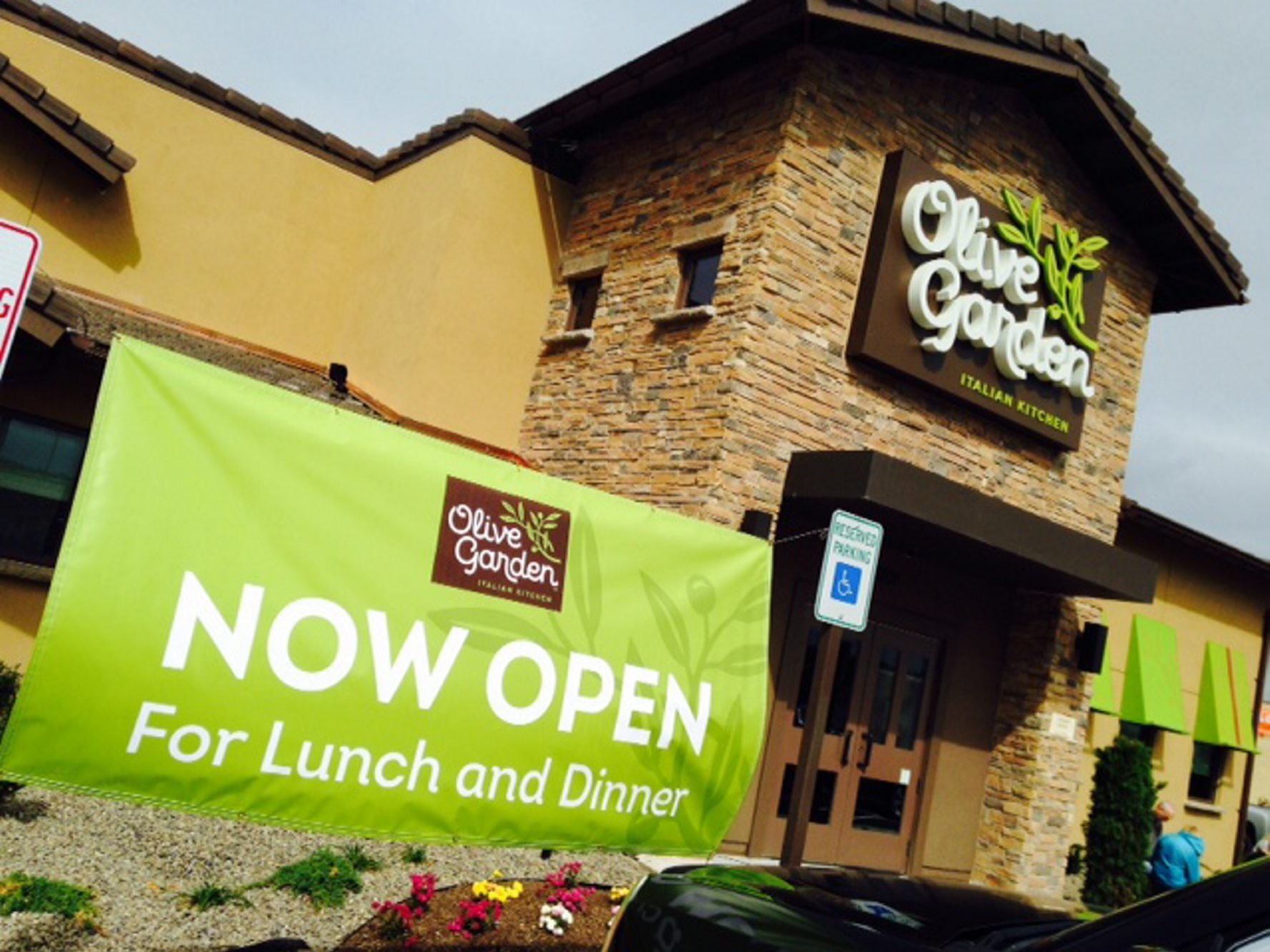 The new-style Olive Garden that opened today in Hamburg. (Robert Kirkham/Buffalo News)