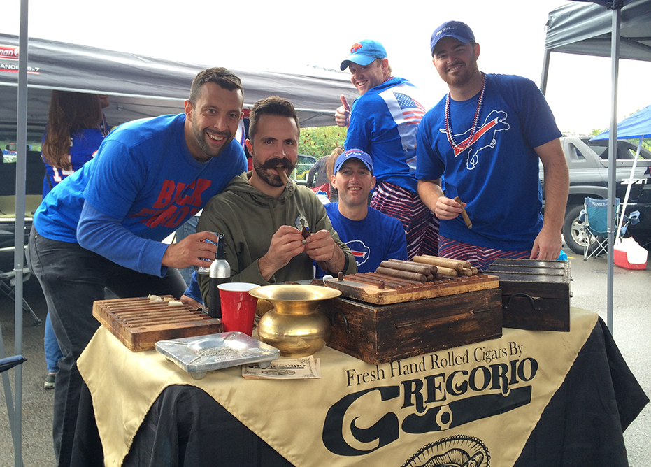 David Kelly of Orchard Park hired Greg Corbi to hand-roll cigars for his friends. (Nick Veronica/Special to the News)