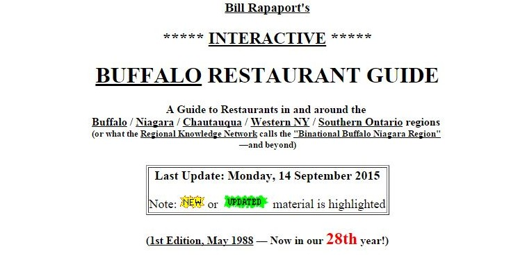 Bill Rapaport started his online restaurant guide in 1988.