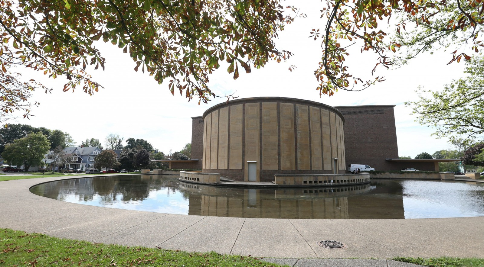 Kleinhans Music Hall, which opened in 1940, is considered one of the most acoustically perfect halls in the world.  Designed by Finnish father-and-son team of Eliel an Eero Saarinen, the building is also a beauty with its many curves and striking lines.  The reflecting pool is one of the distinctive features.