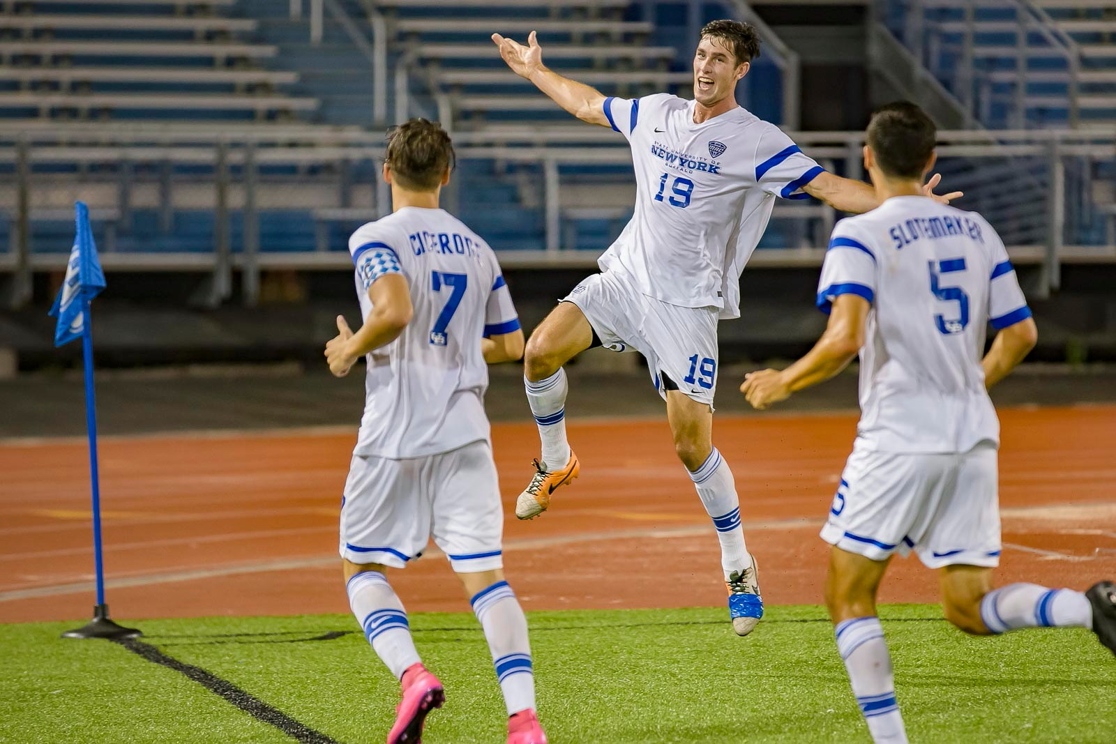 UB's Scott Doney scored the eventual game-winning goal as the Bulls beat West Virginia. (Don Nieman/Special to The News)
