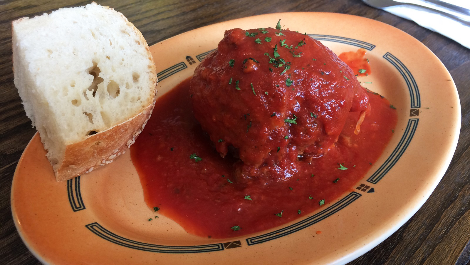 Braciole in Sunday sauce, a Wednesday lunch special at Panaro's. (Joseph Leta/Special to The News)