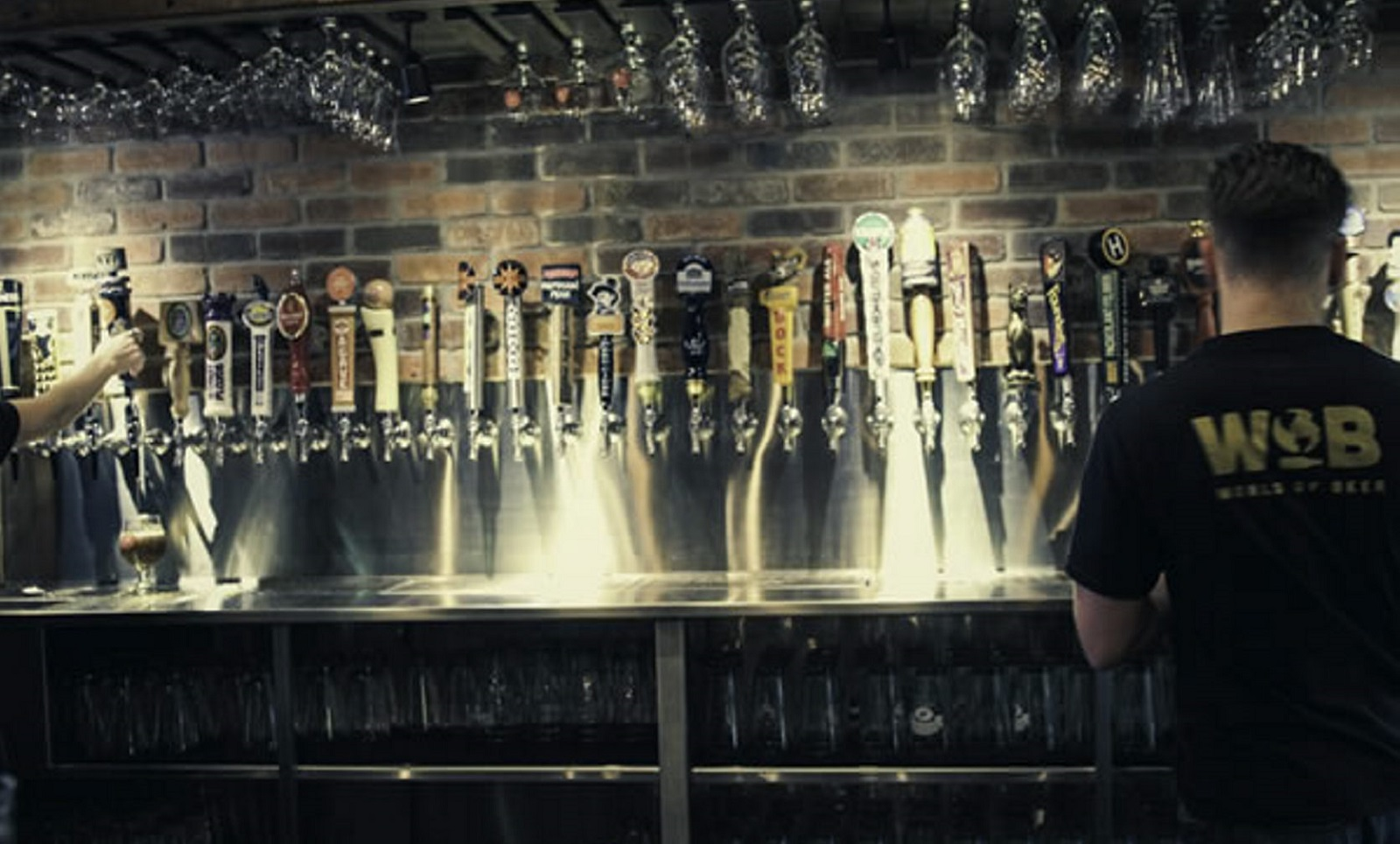 World of Beer in the Galleria Mall plays host to a beer event.