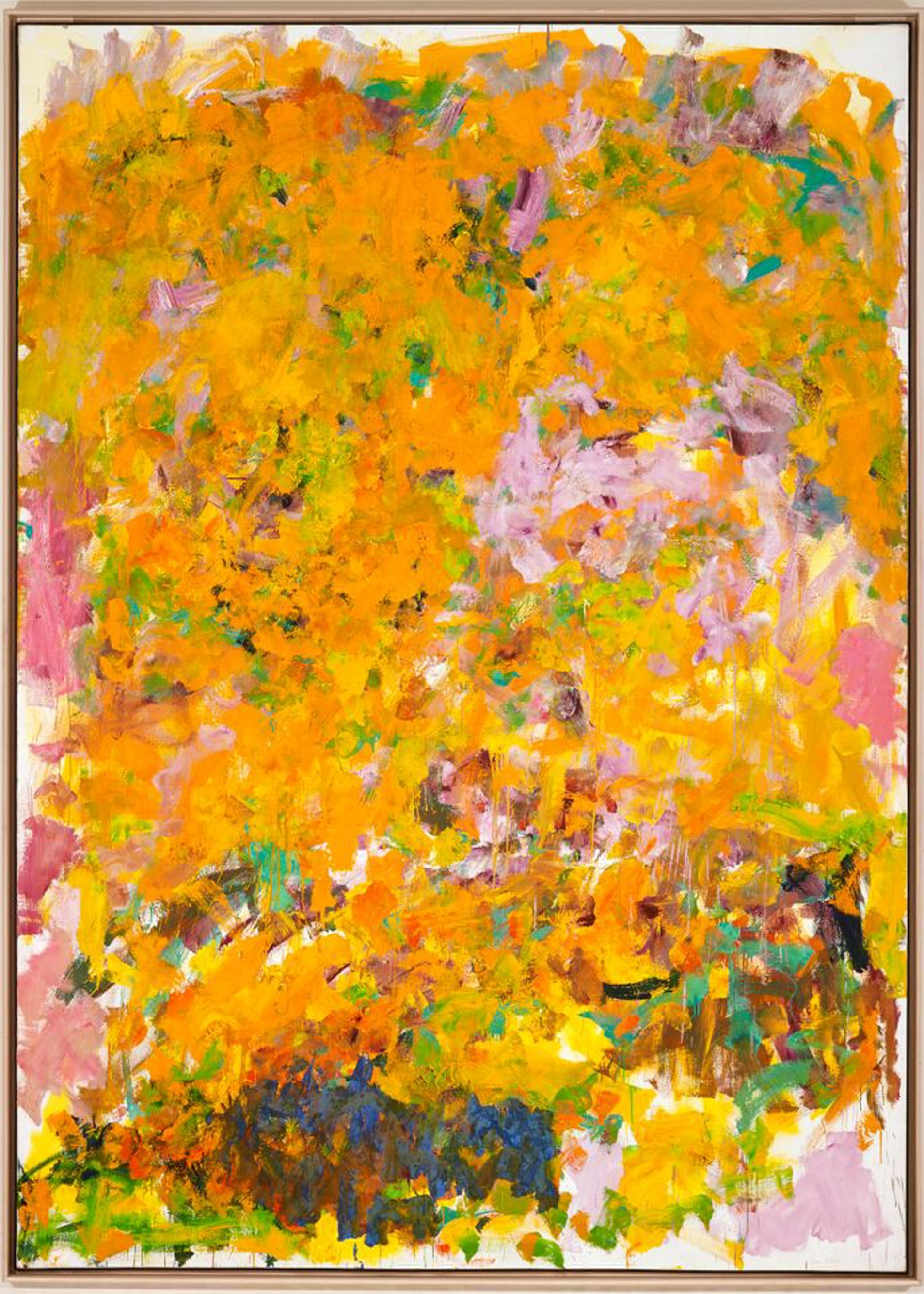 """""""Begonia,"""" a 1982 painting by Joan Mitchell, is part of the Castellani Art Museum's """"Highlights: The Castellani Collection."""""""