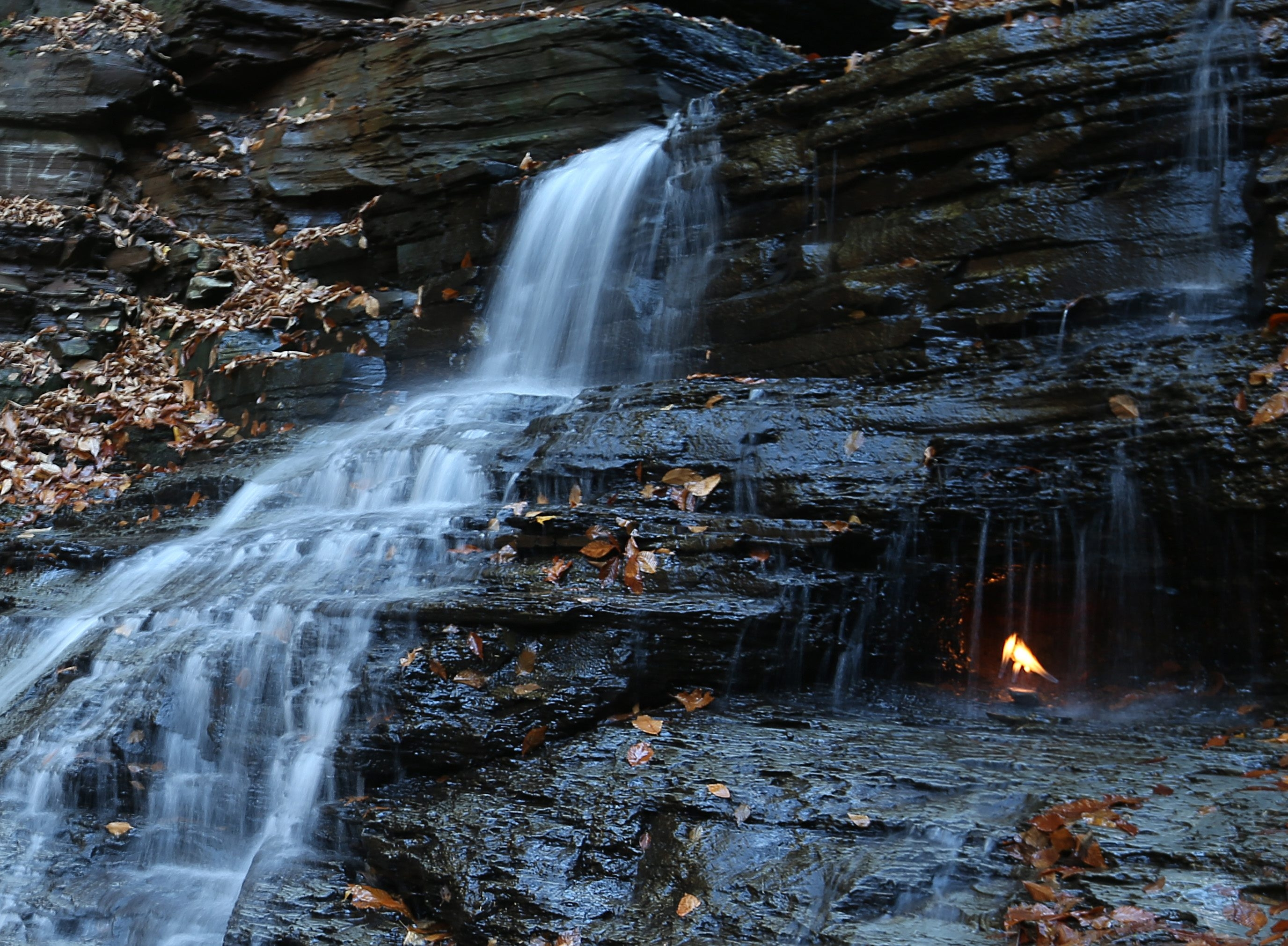 100 Things every Western New Yorker should do at least once - Eternal Flame at Chestnut Ridge