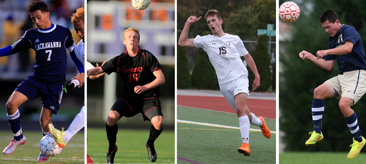 From left, Ali Shawish, Sean Palmer, Evan Scales and Joey Keem all made the Exceptional Seniors Game rosters. (Buffalo News file photos)
