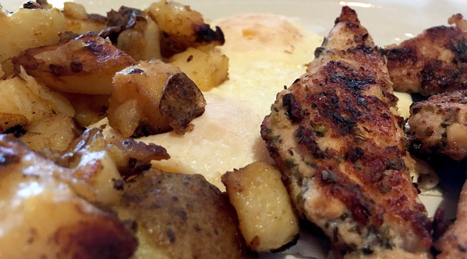 Homefries, eggs and chicken souvlaki are all crucial to Towne Restaurant's menu, and all three are part of the lunch buffet on Sundays. (Ben Siegel/Special to The News)