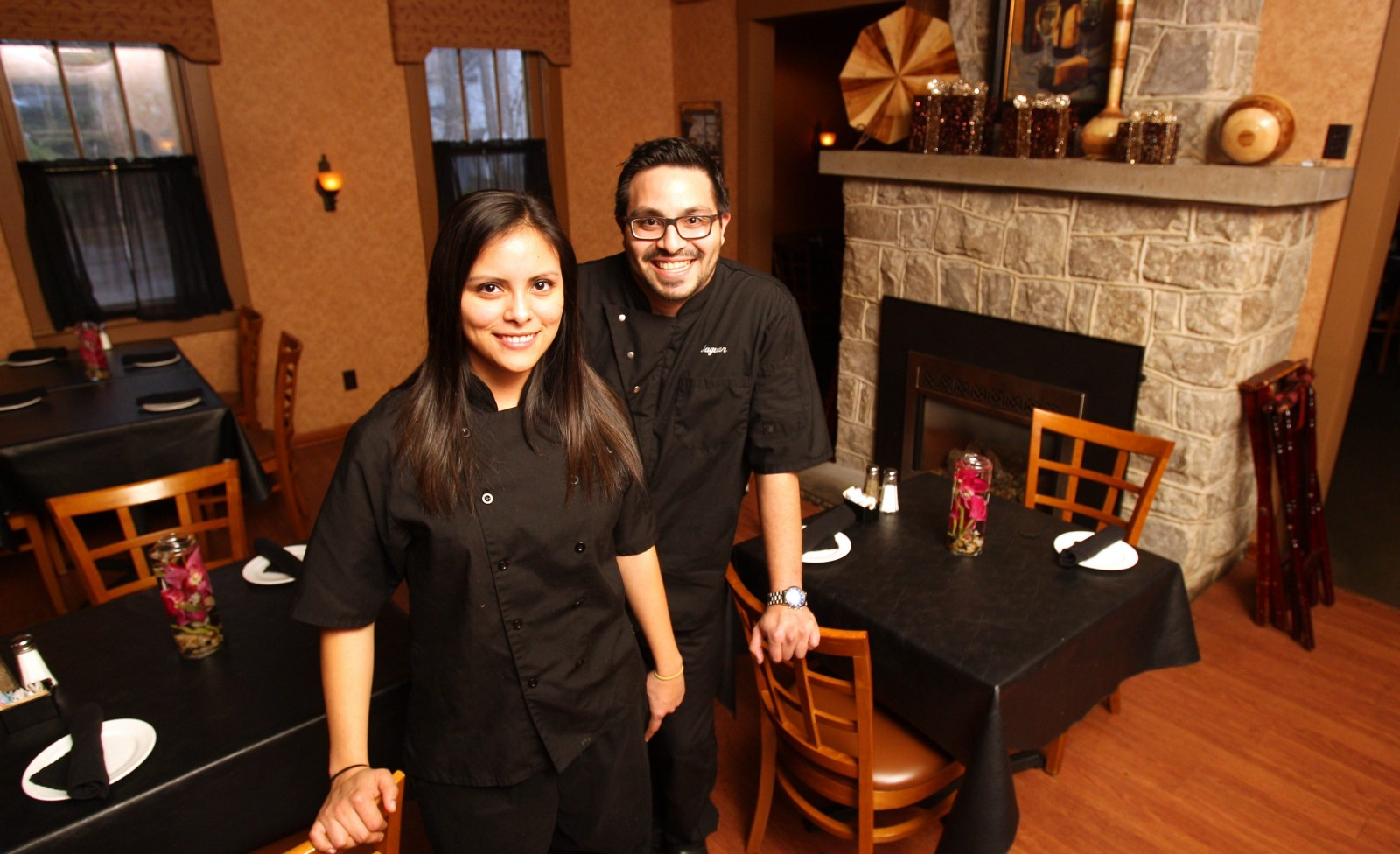 Victor Parra Gonzalez, right, and his sister Diana Parra closed their Youngstown restaurant, Jaguar at the Bistro, two months ago to focus on Buffalo restaurant projects. (Sharon Cantillon/Buffalo News file photo)