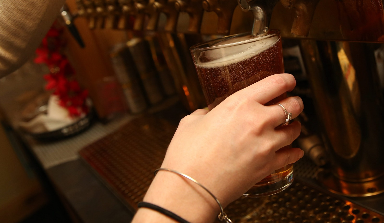 The Big Ditch Hayburner is a flagship craft beer from Big Ditch Brewing Company. It's available from Del's Tavern. (Sharon Cantillon/Buffalo News)