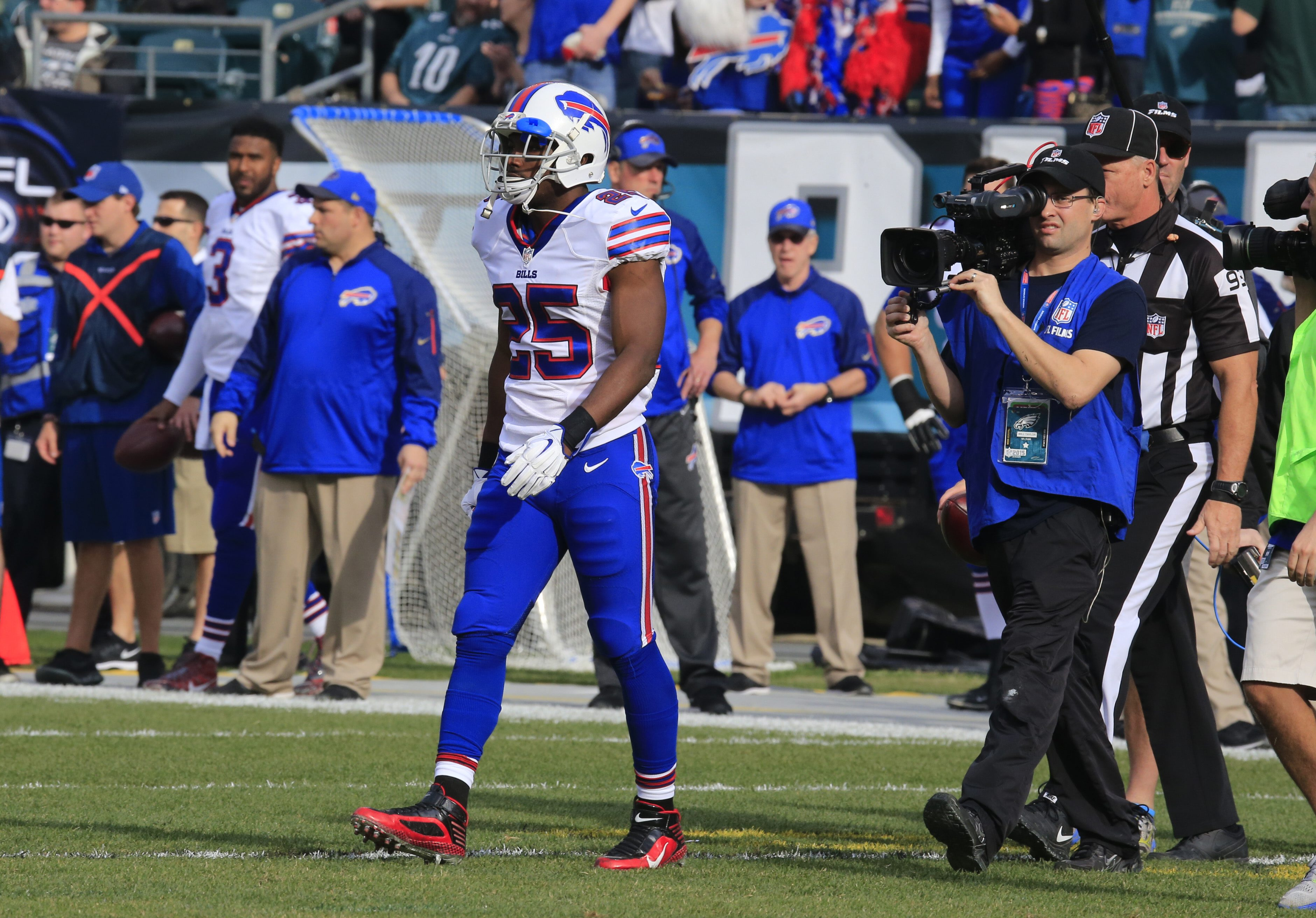 LeSean McCoy was the lone Bills captain against his former team, the Philadelphia Eagles. (Harry Scull Jr./Buffalo News)
