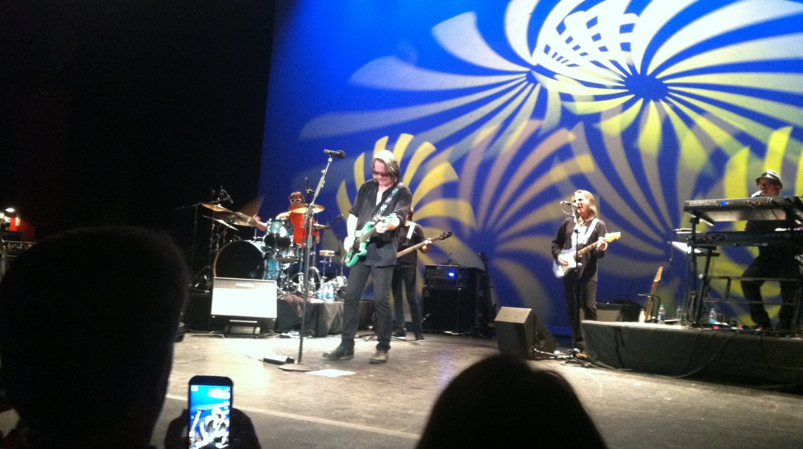 Todd Rundgren and his band played before a full house at the Riviera Theatre on Sunday.
