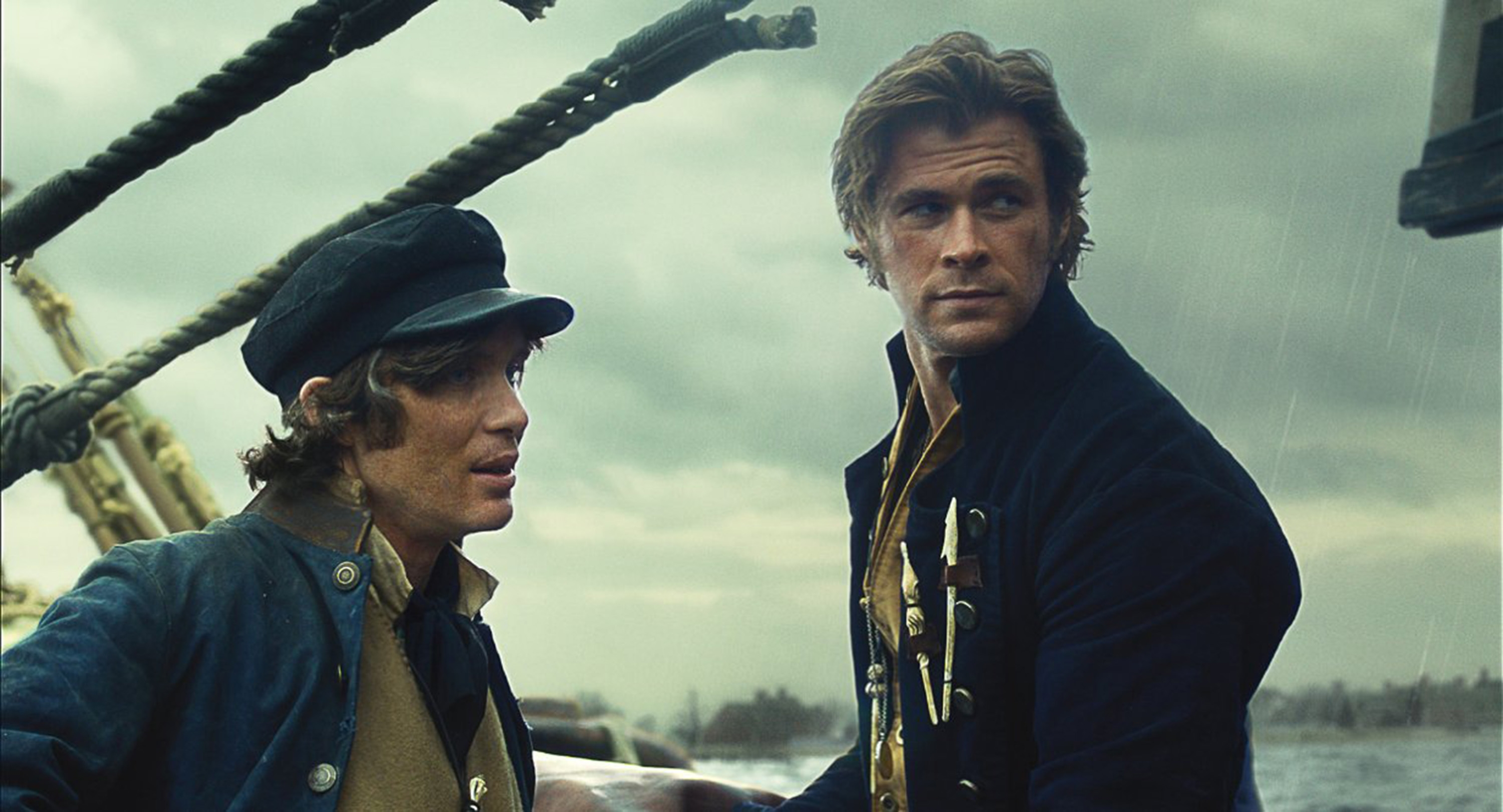 "Cillian Murphy and Chris Hemsworth in ""In the Heart of the Sea."""