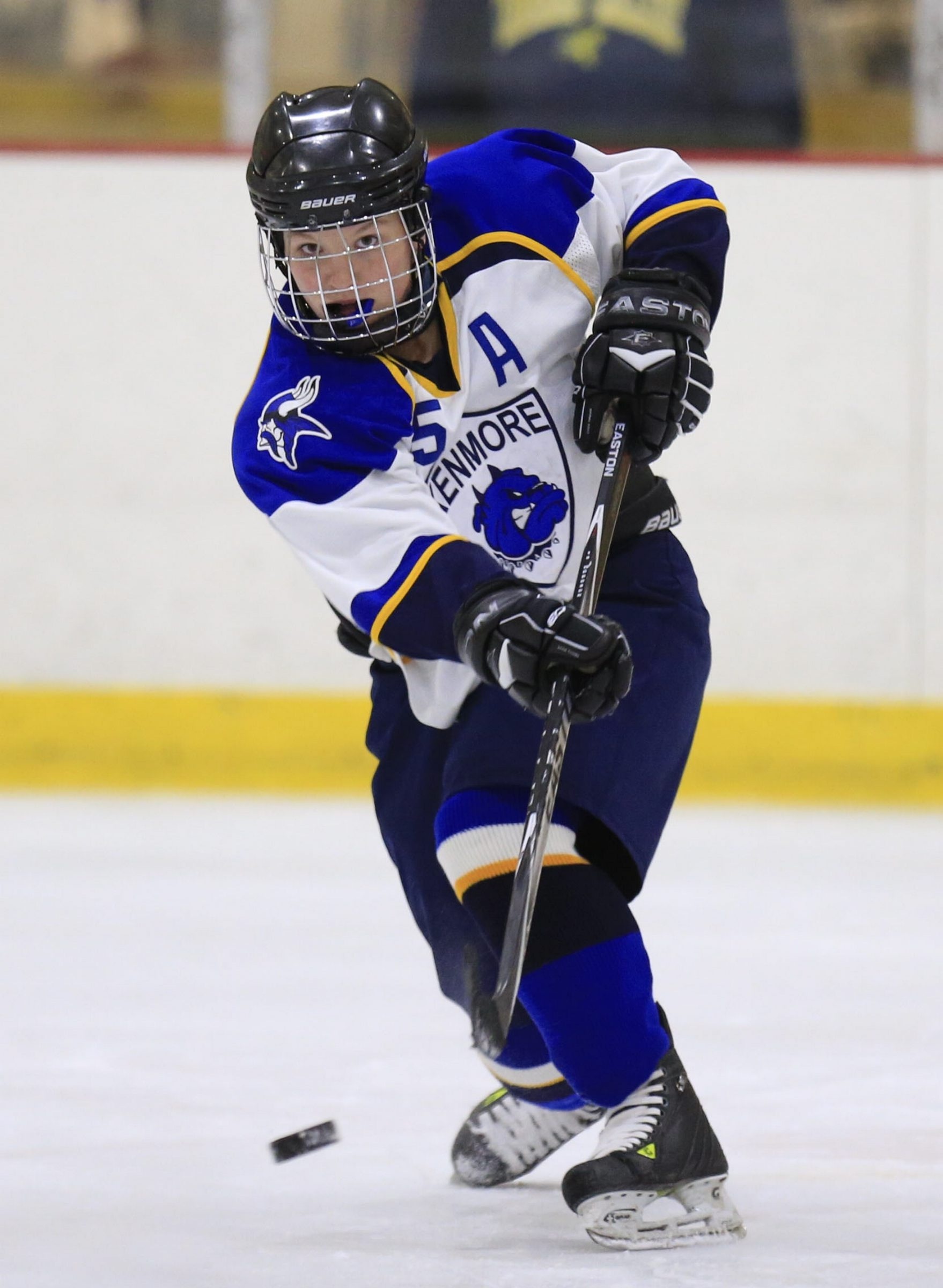 Grace Simmons of Kenmore/Grand Island is in her sixth season of WNY Girls Hockey.