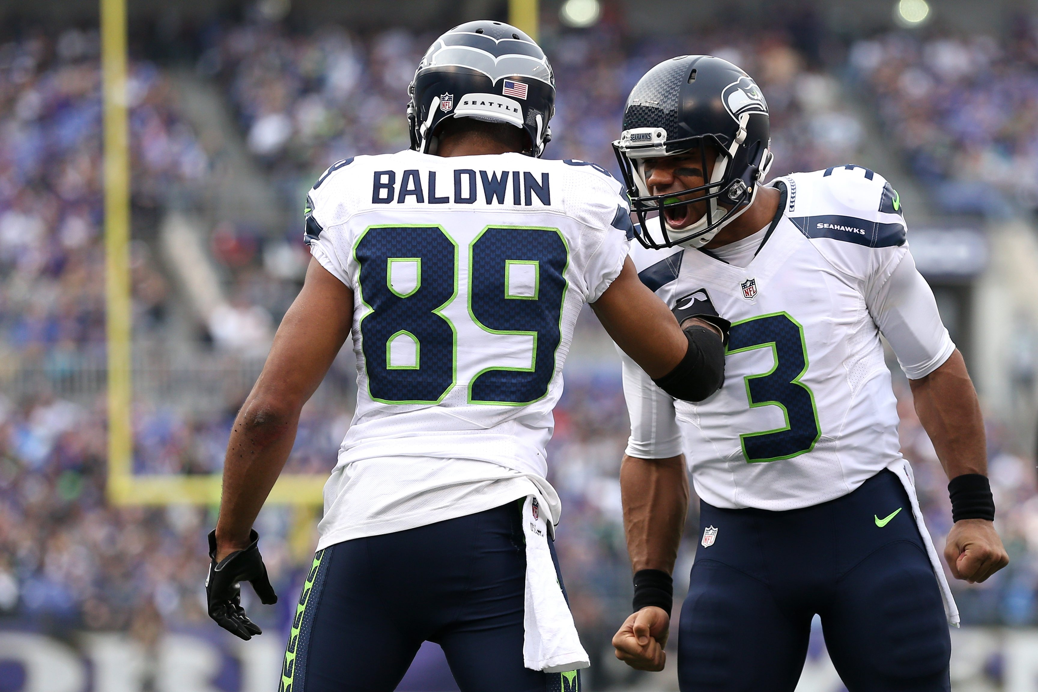 Wide receiver Doug Baldwin and quarterback Russell Wilson have the Seahawks in position for the playoffs.