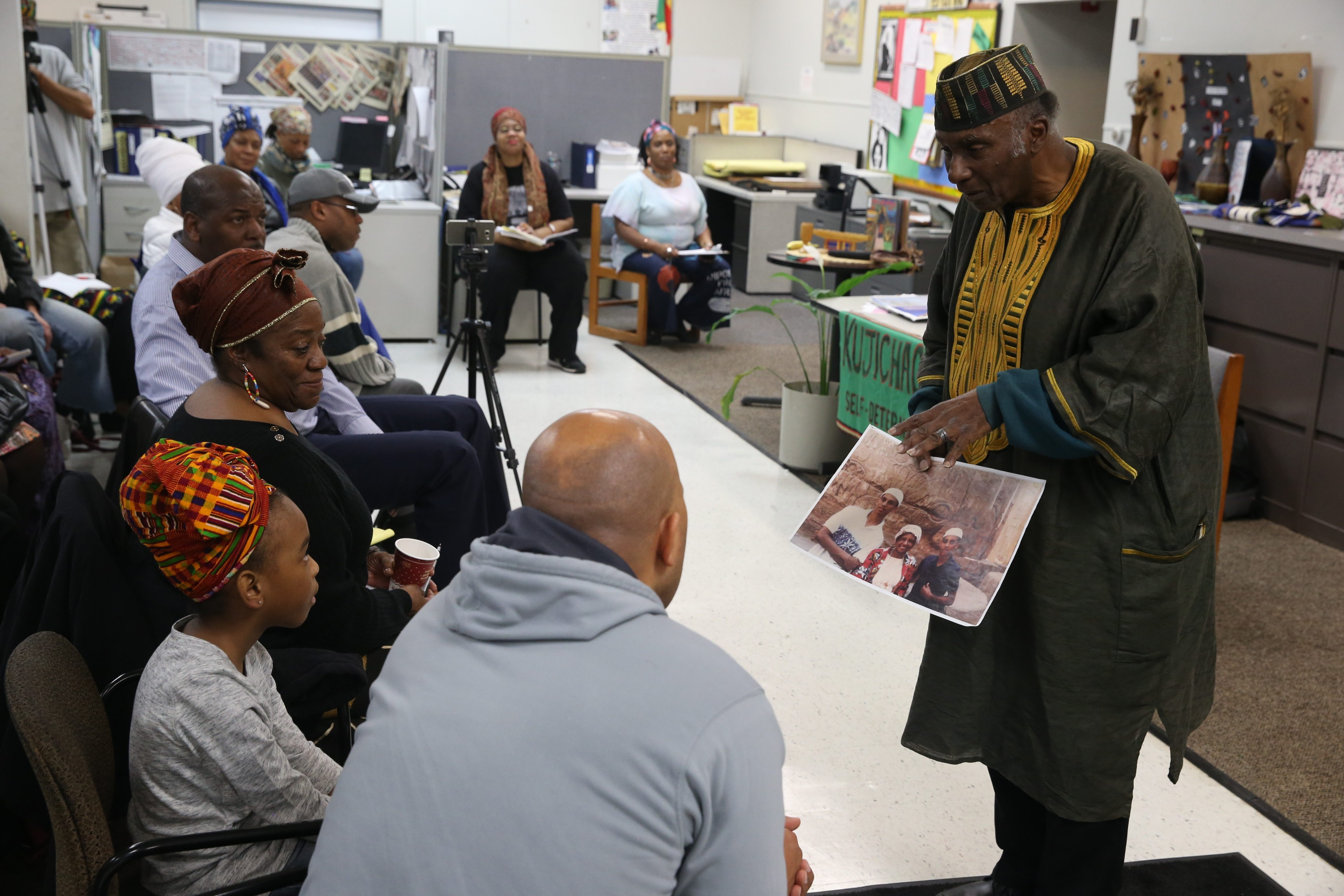 Leonard Jeffries Jr., chairman of the black studies department at City College of New York, delivers the keynote address Sunday at the Kwanzaa celebration at CAO Rafi Greene Resource Center.