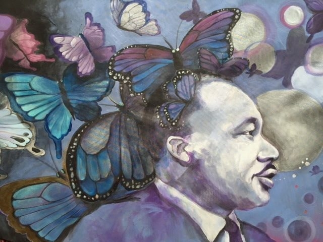 "This image from ""Butterfly Sky,"" by Michele Costa of Theatre Figuren, will be part of ""I Can See Canaan Land."""