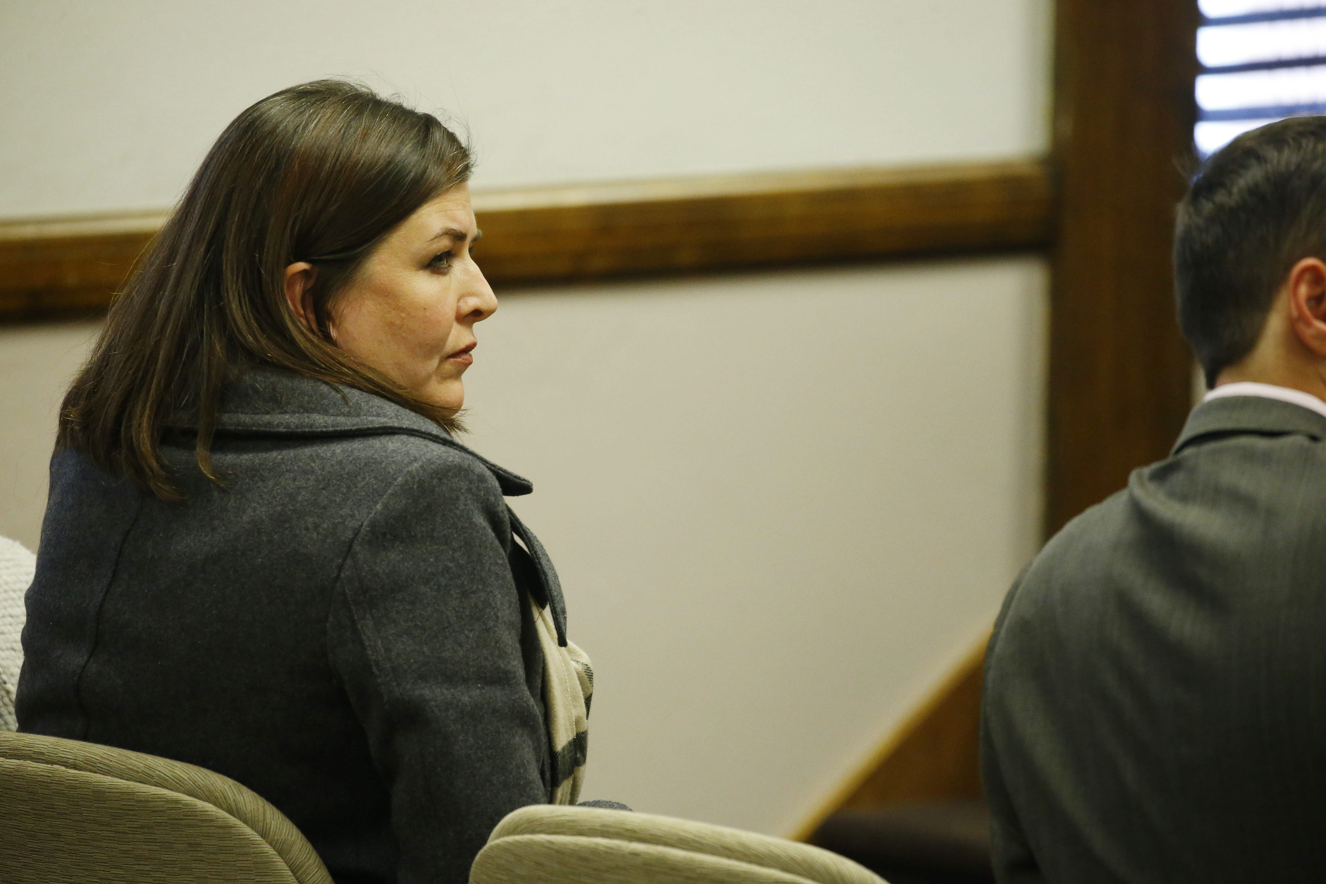 2 line cutline here Beth Hoskins sits in the East Aurora courtroom Dec. 10. ()