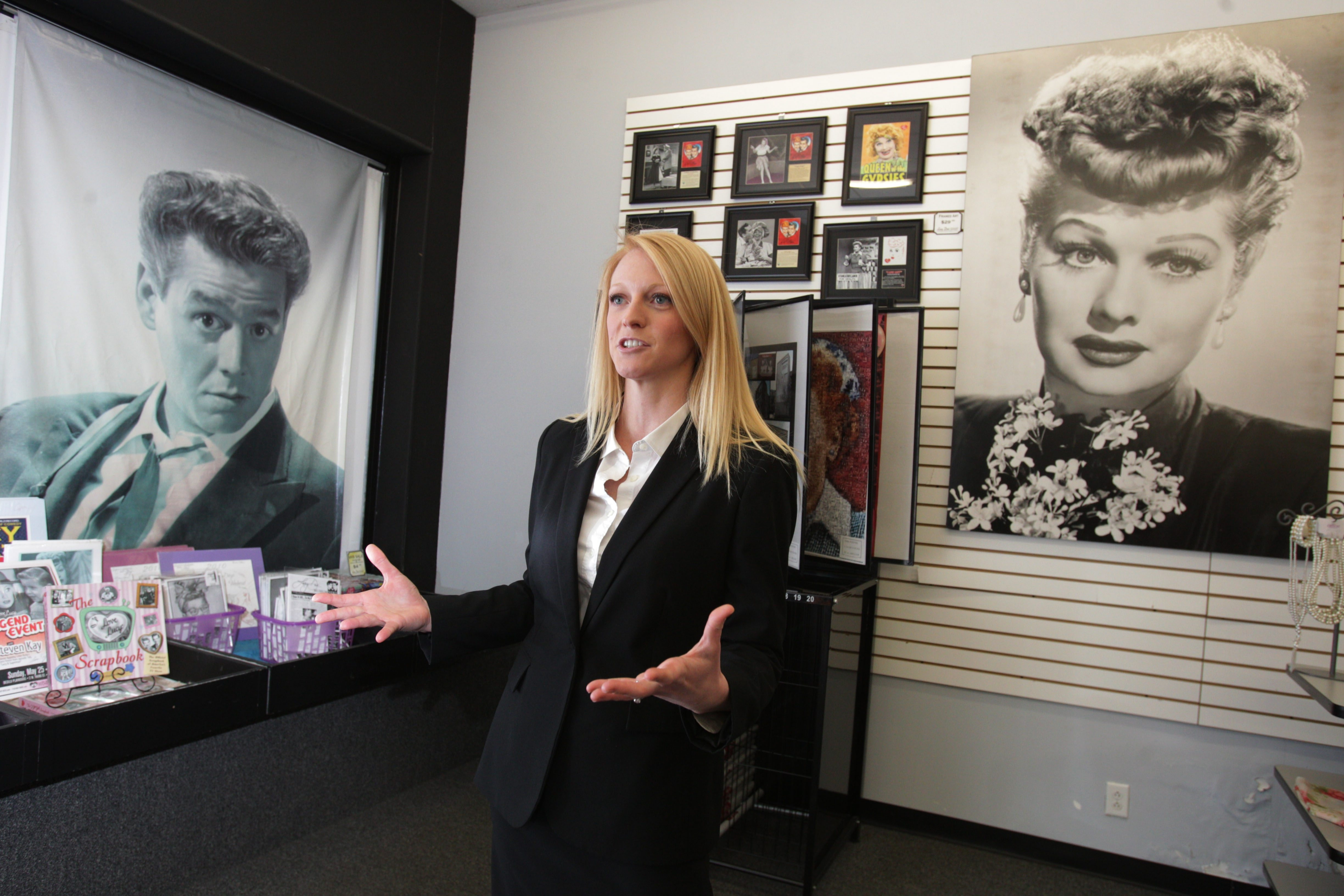 Journey L. Gunderson is executive director of Lucy Desi Museum and Comedy Center in Jamestown, as well as National Comedy Center project. State's $2.03 million award covers Erie-Lackawanna train station rehab, building construction and public plaza.