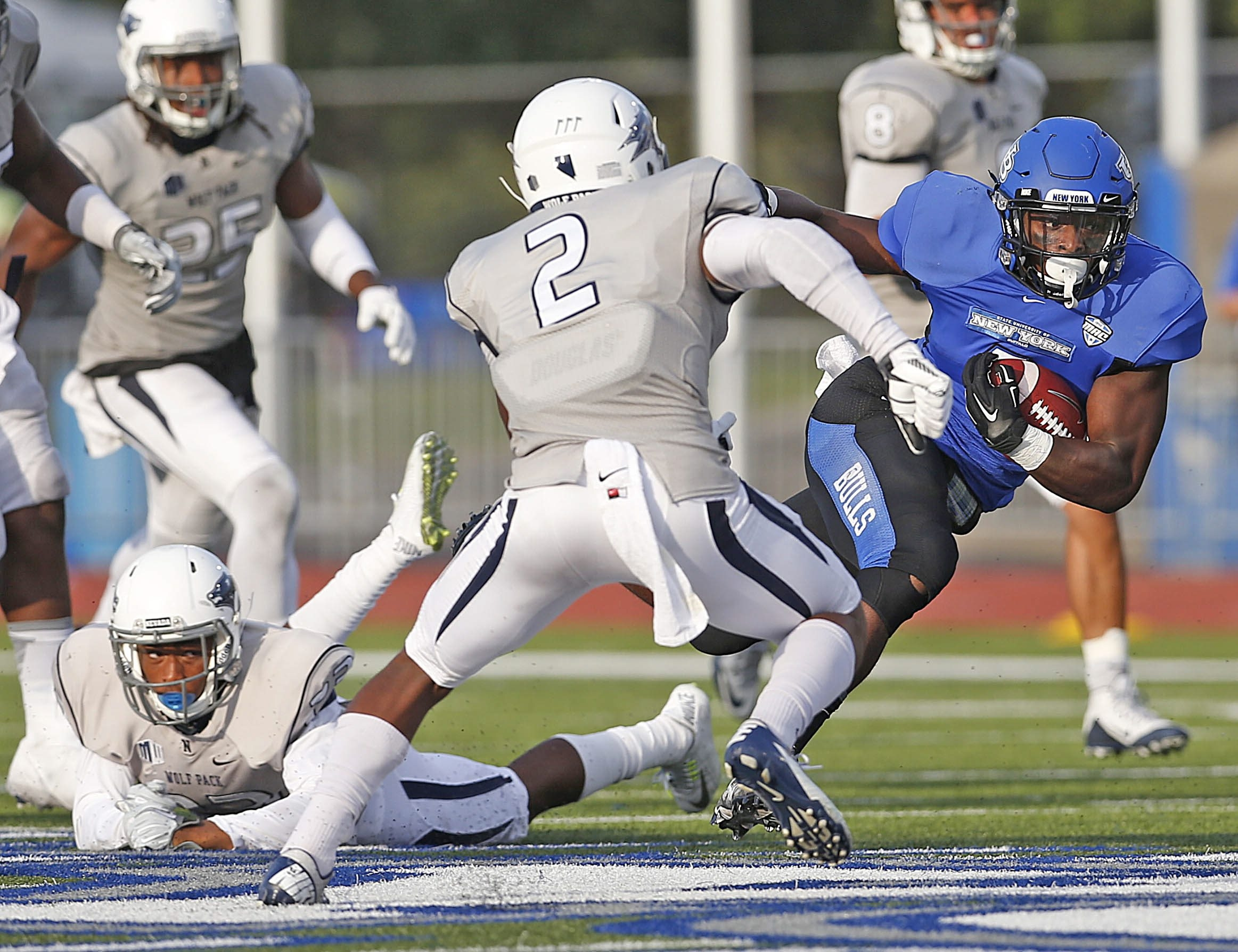 UB running back Jordan Johnson, a Sweet Home graduate, had a solid junior season. His 12 rushing touchdowns tied for third in the Mid-American Conference. (Robert Kirkham/Buffalo News)