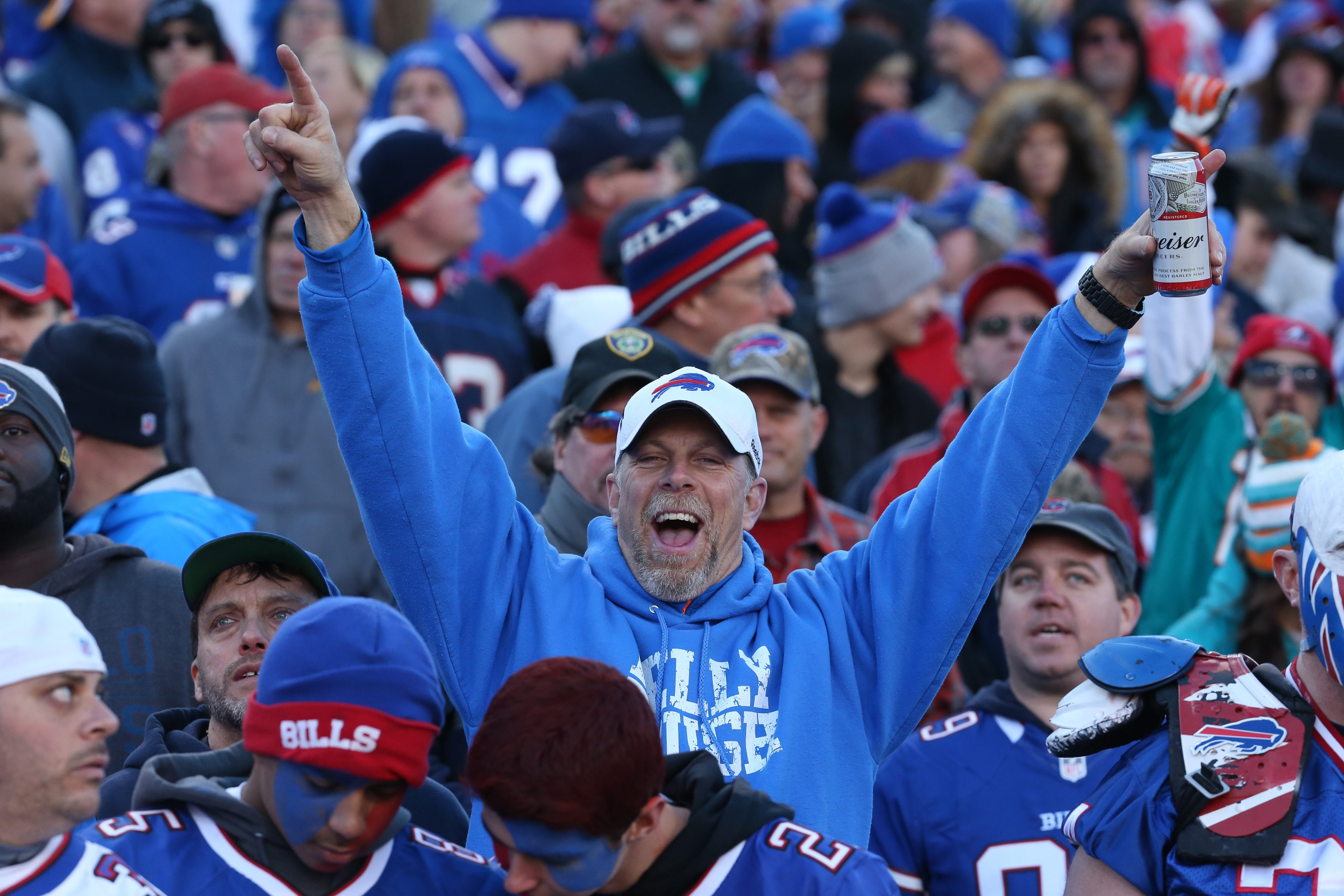 Some fans say the number of spectators standing for large portions of games at Ralph Wilson Stadium is on the rise.