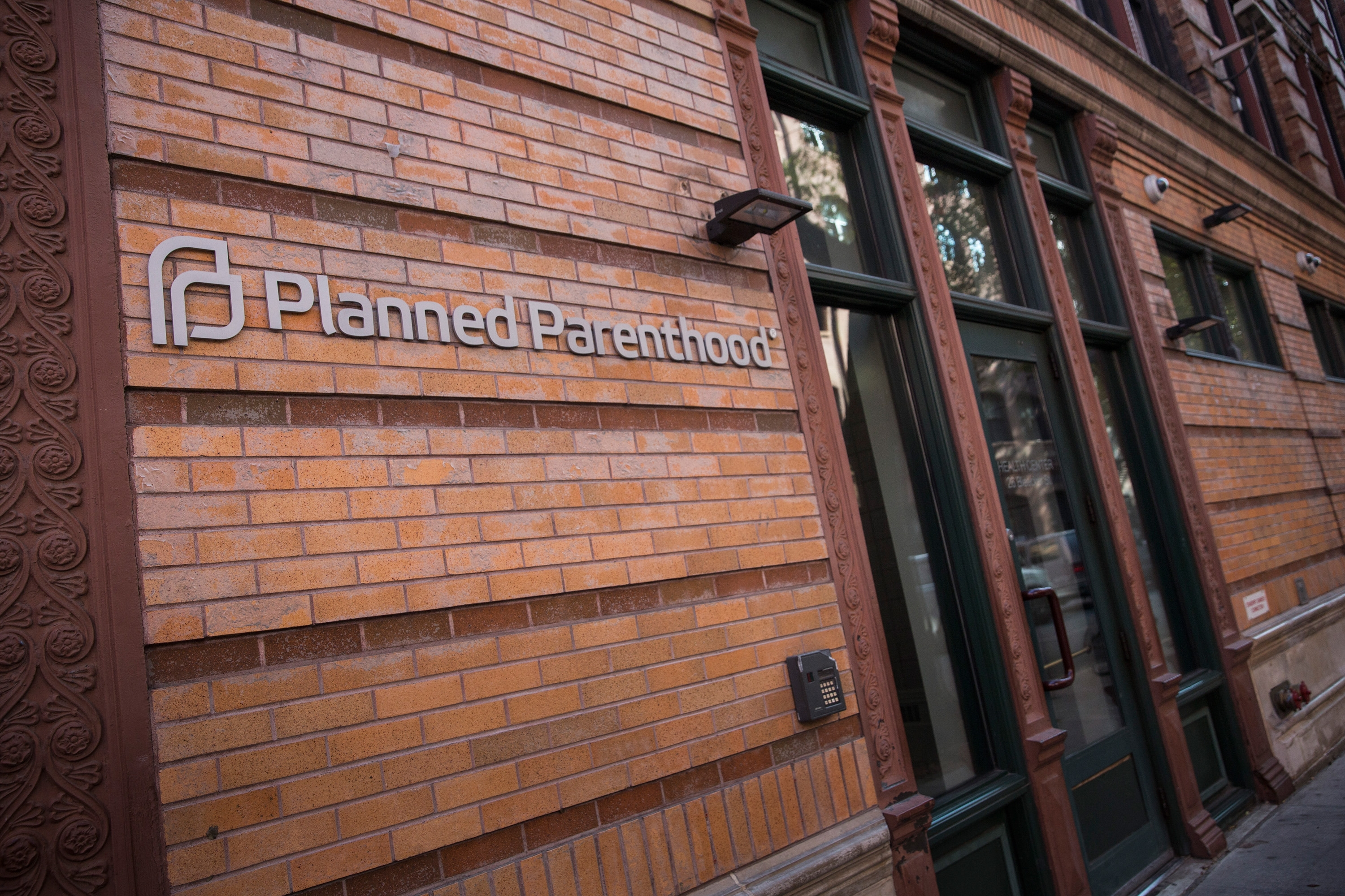 NEW YORK, NY - NOVEMBER 30:  A Planned Parenthood office is seen on November 30, 2015 in New York City. A gunman killed three people November 27, including a police officer, at a Planned Parenthood in Colorado Springs, Colorado. (Photo by Andrew Burton/Getty Images)