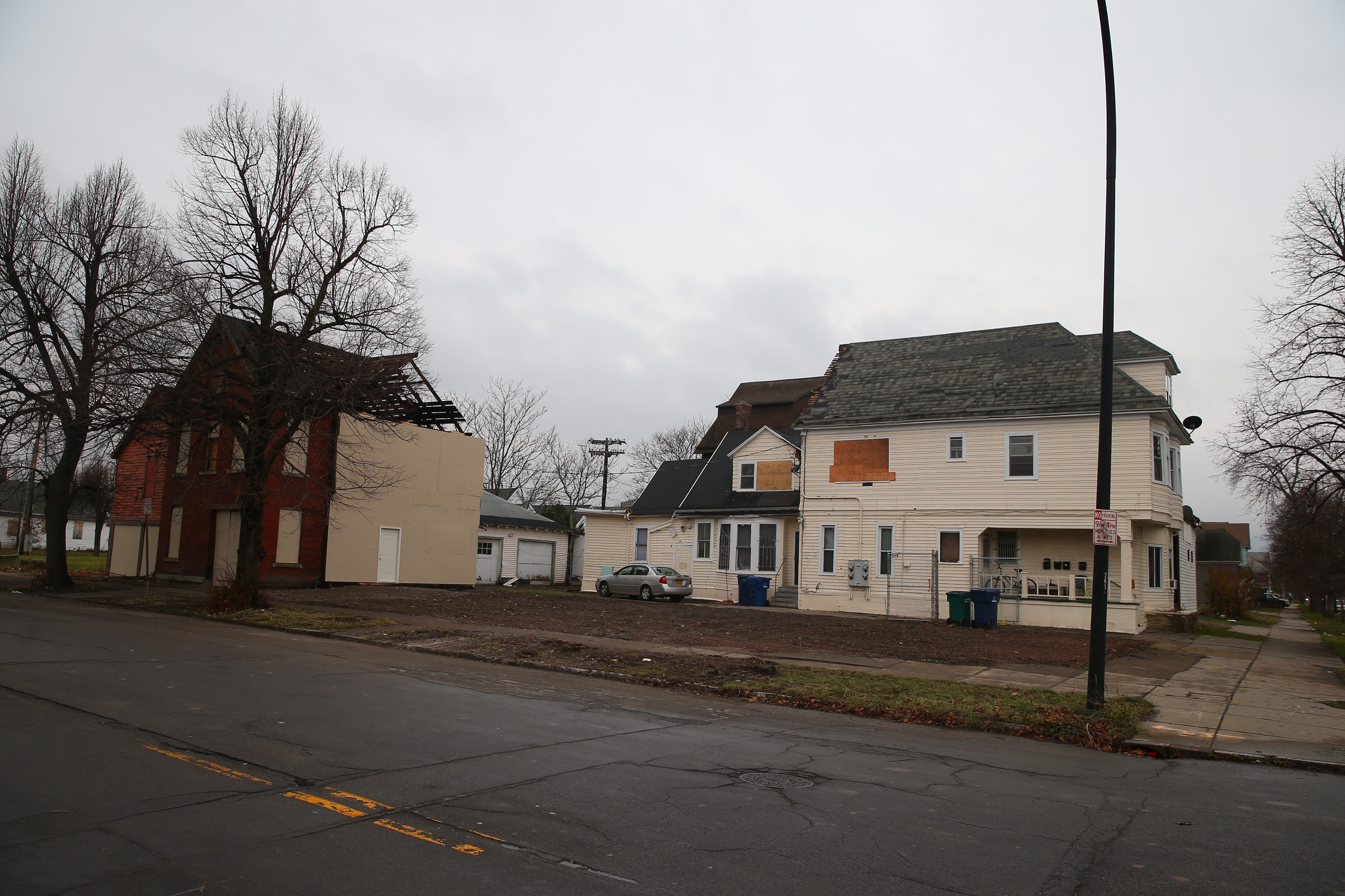 Only two small structures are left after a fire wrecked the former Jankowski Cigar Shop at 595 Fillmore Ave. A plan to redevelop the parcel is part of the long-range vision to revive the Fillmore Avenue commercial district.