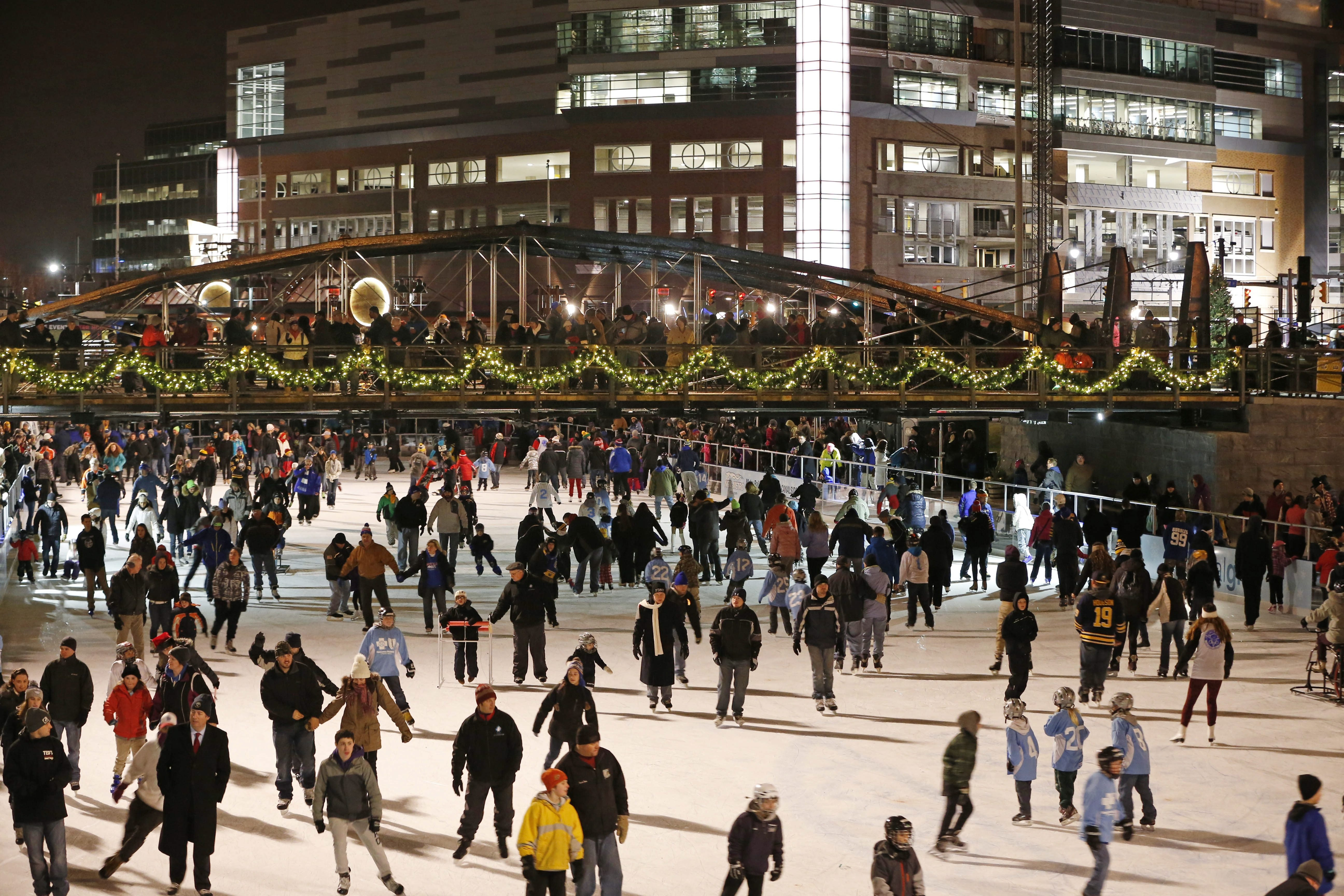 Skate, visit Santa and watch a tree lighting on Dec. 4 at The Ice at Canalside. (Derek Gee/Buffalo News file photo)