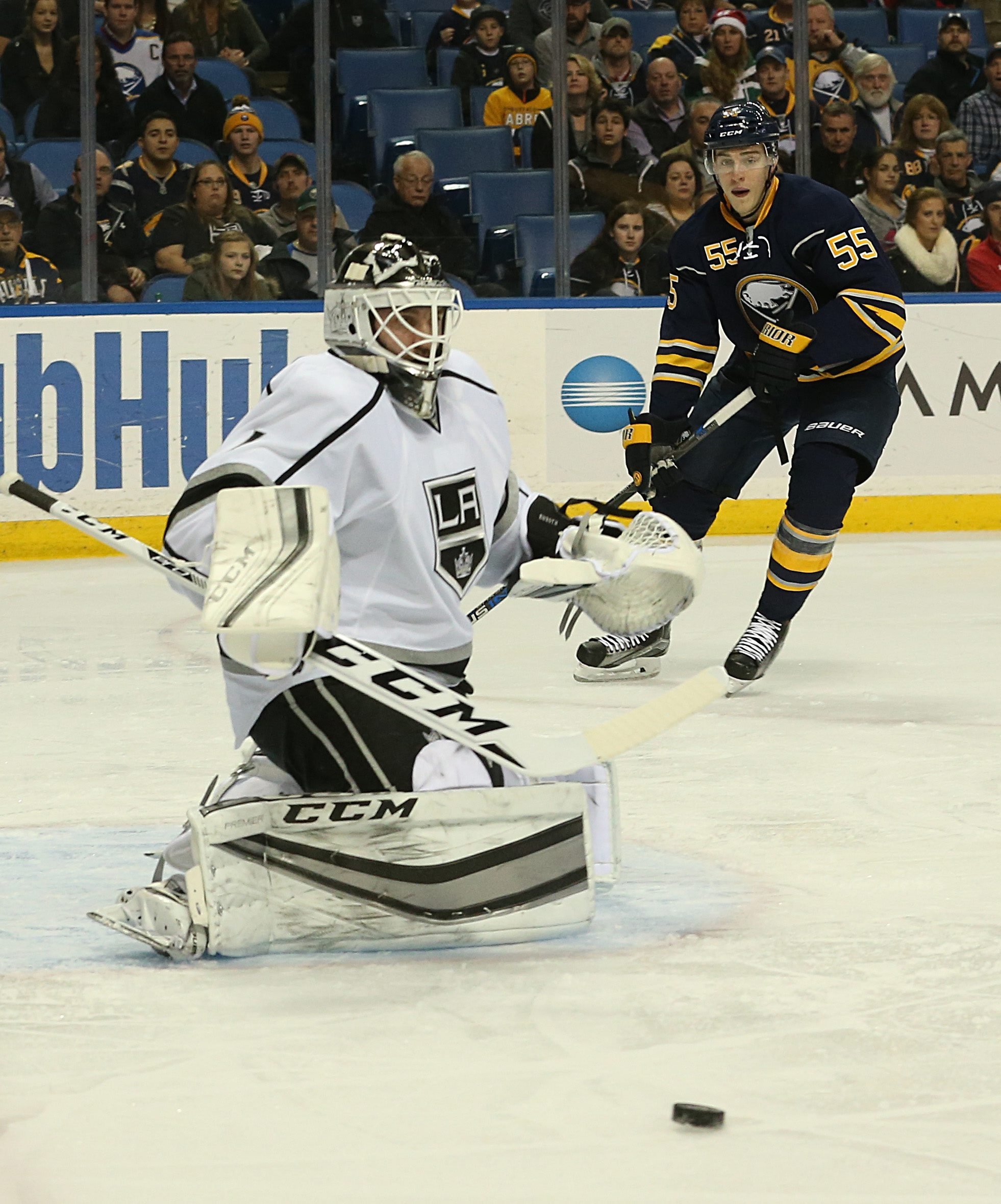 Former Sabres goalie Jhonas Enroth is now the backup to Jonathan Quick in Los Angeles. He backed up Ryan Miller while in Buffalo.